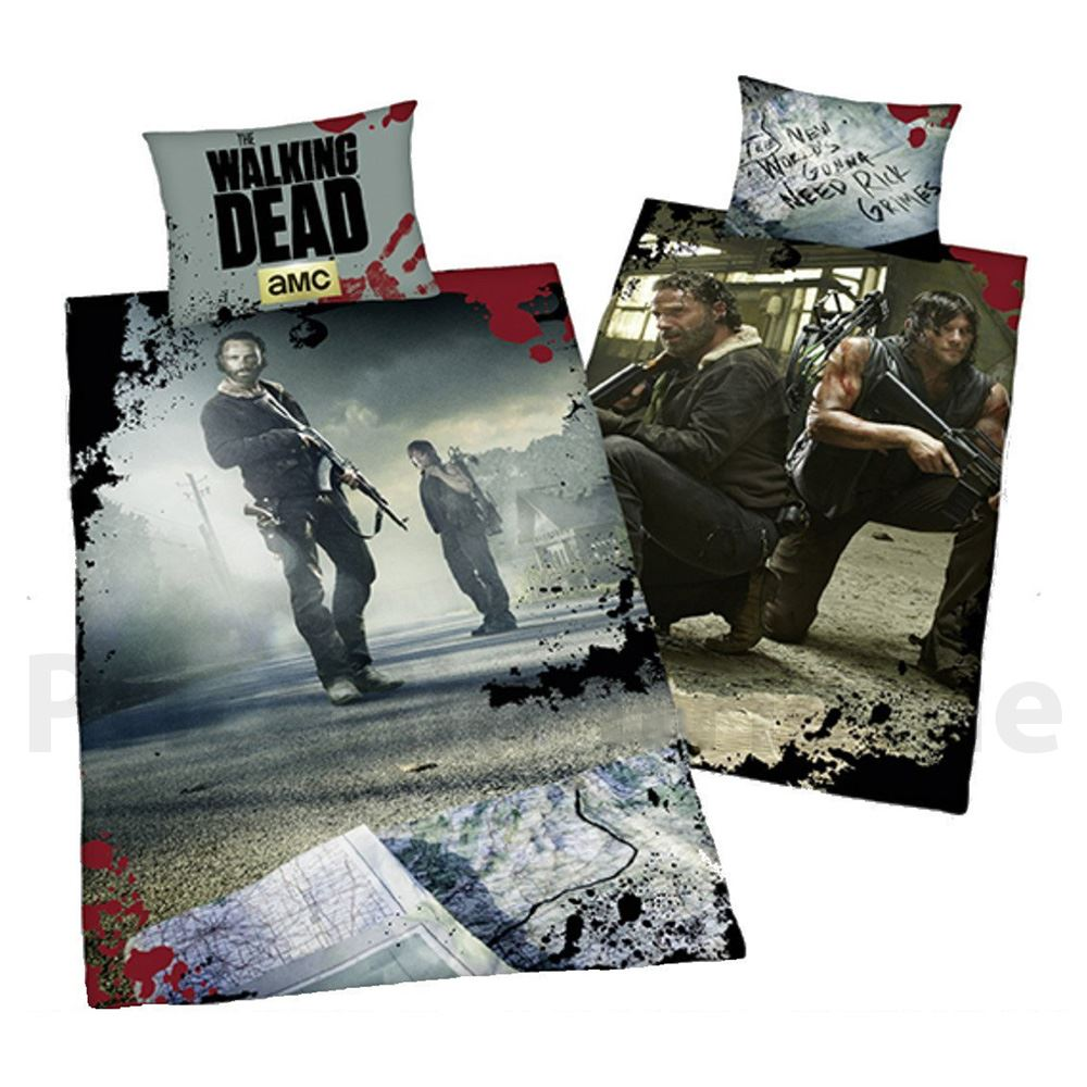 the walking dead single duvet cover bedding set rick