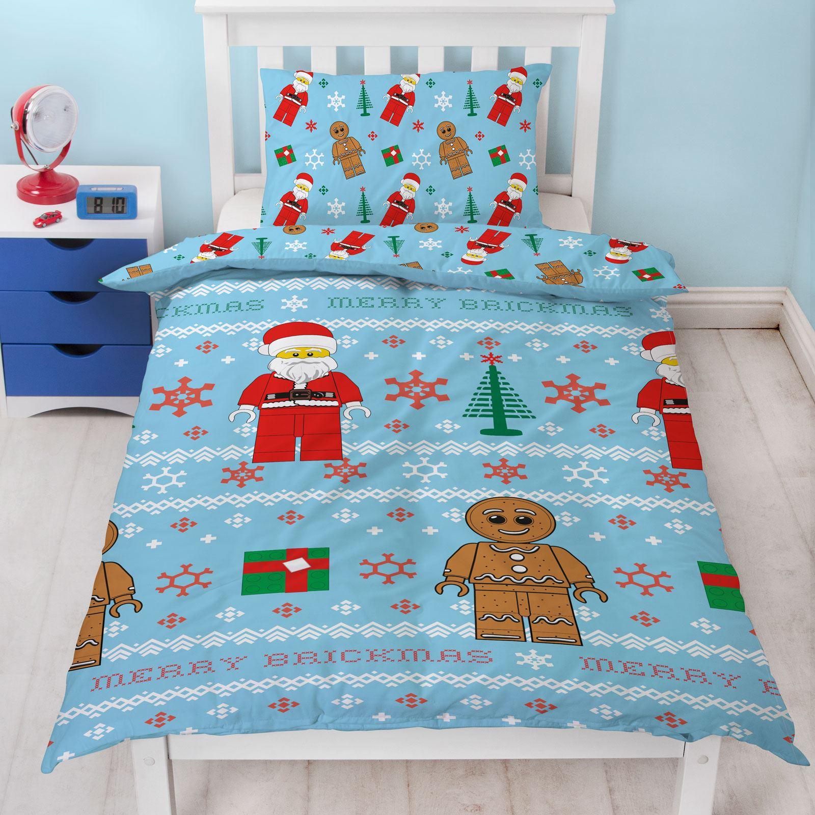 Indexbild 42 - Kinder Weihnachten Bettbezug Sets - Junior Einzel Doppel King - Elf Emoji Grinch