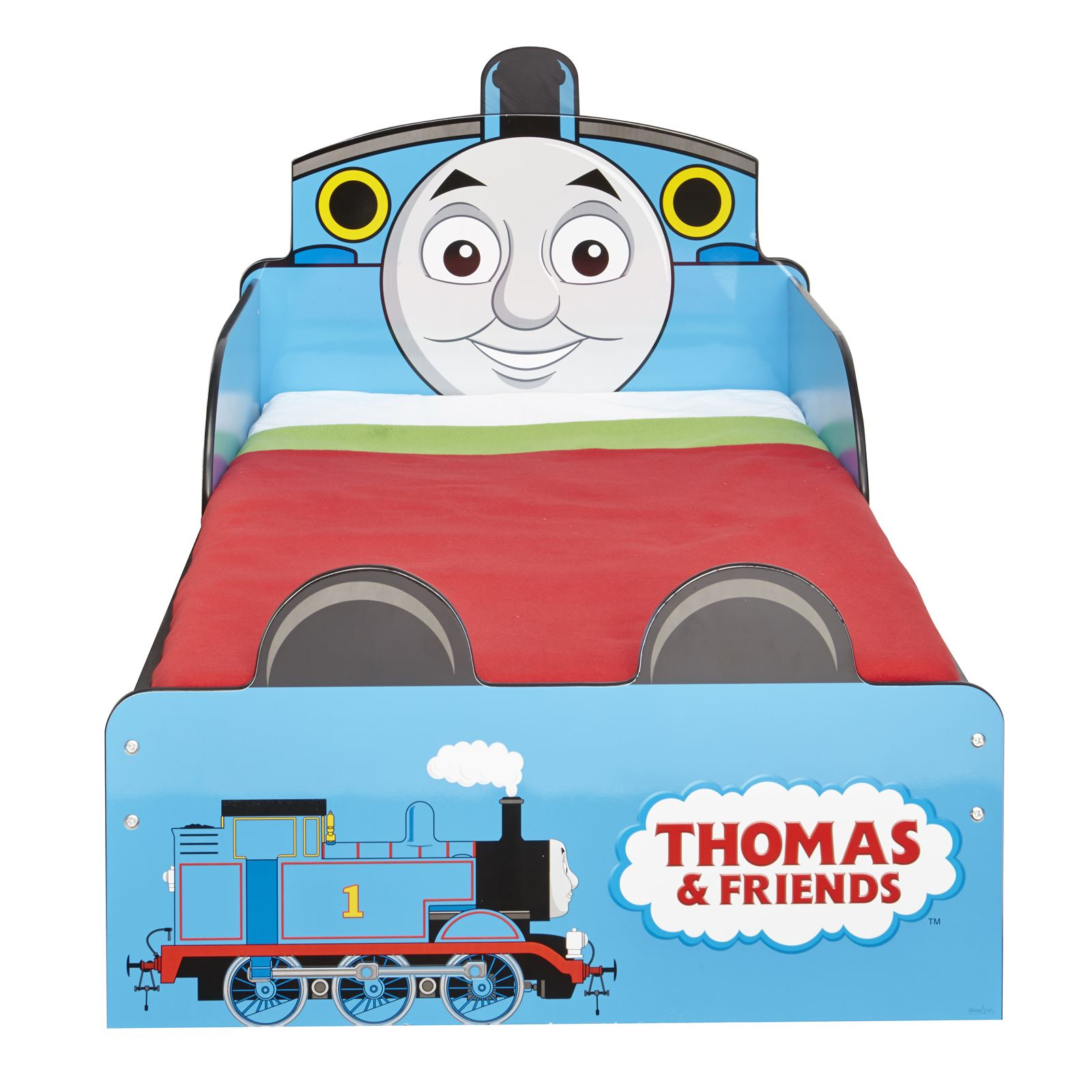 Thomas the tank engine wallpaper border - Thomas Friends Mdf Toddler Bed With Storage New Tank Engine Boys