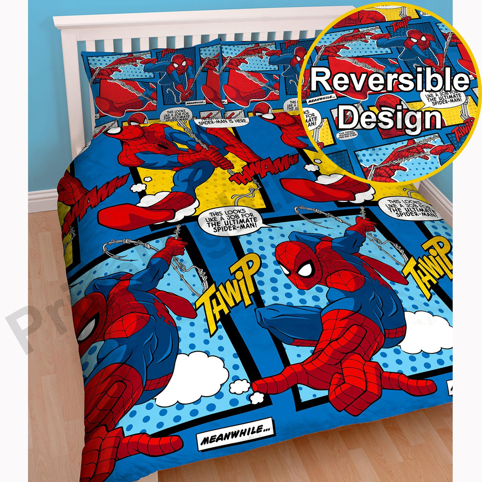 Spiderman Webhead Full Size Duvet Cover Choice Of 54 72 Curtains Ebay