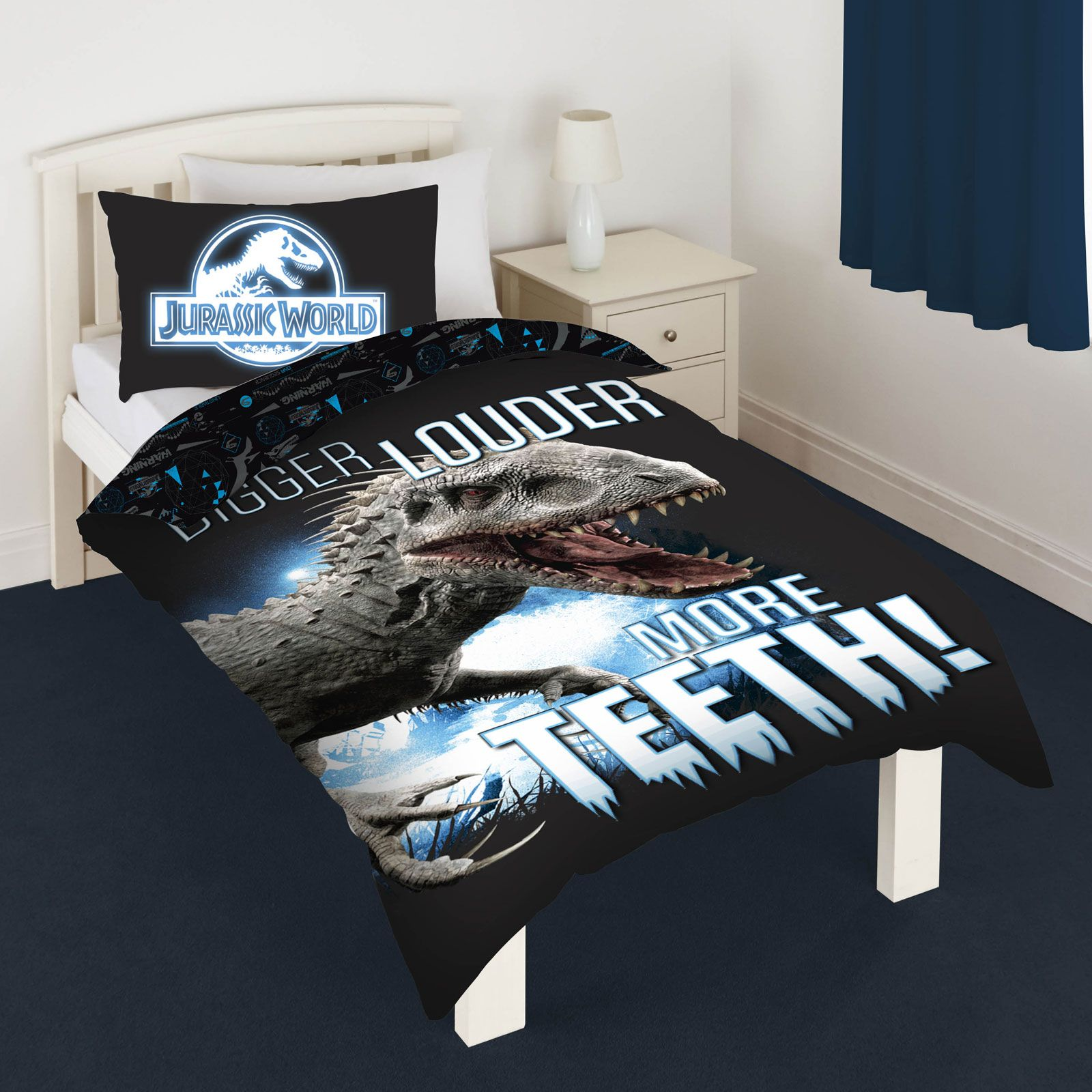 DINOSAUR T-REX JURASSIC DUVET COVER SETS KIDS BEDDING