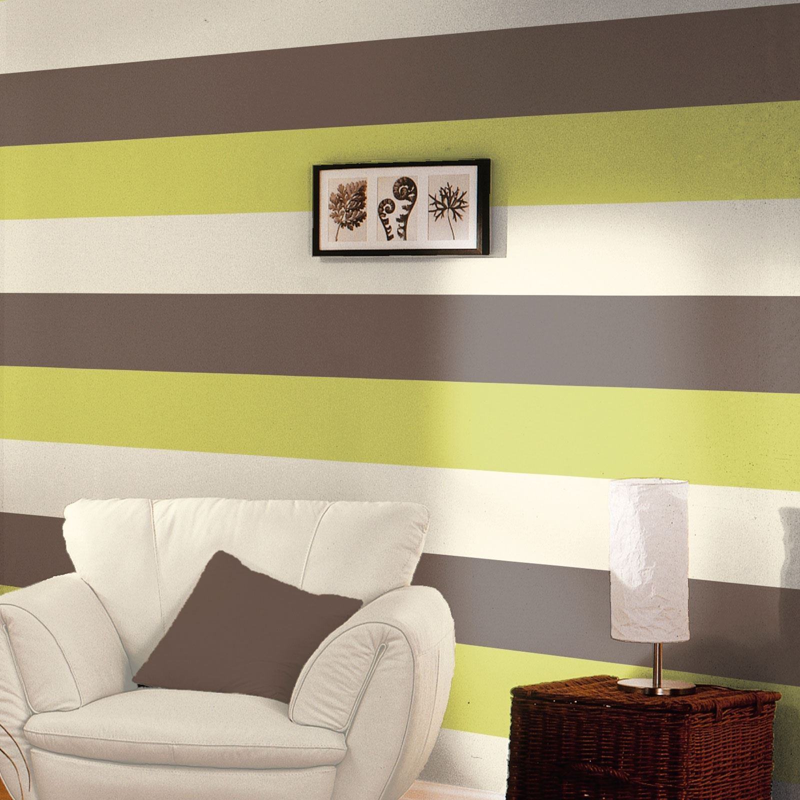 striped living room walls stripe wallpaper new feature wall lime chocolate grey 15740