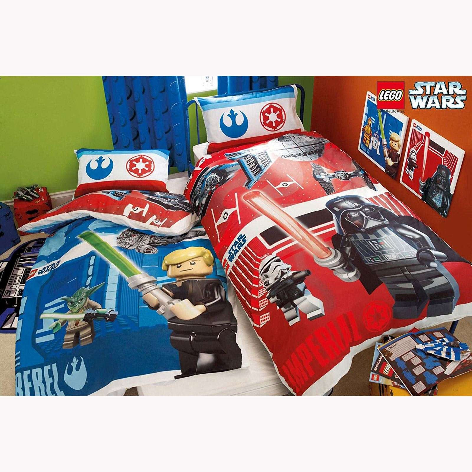 Funda Nordica Lego Star Wars.Details About Lego Star Wars Reversible Duvet Cover Bedding Set New 2 Designs