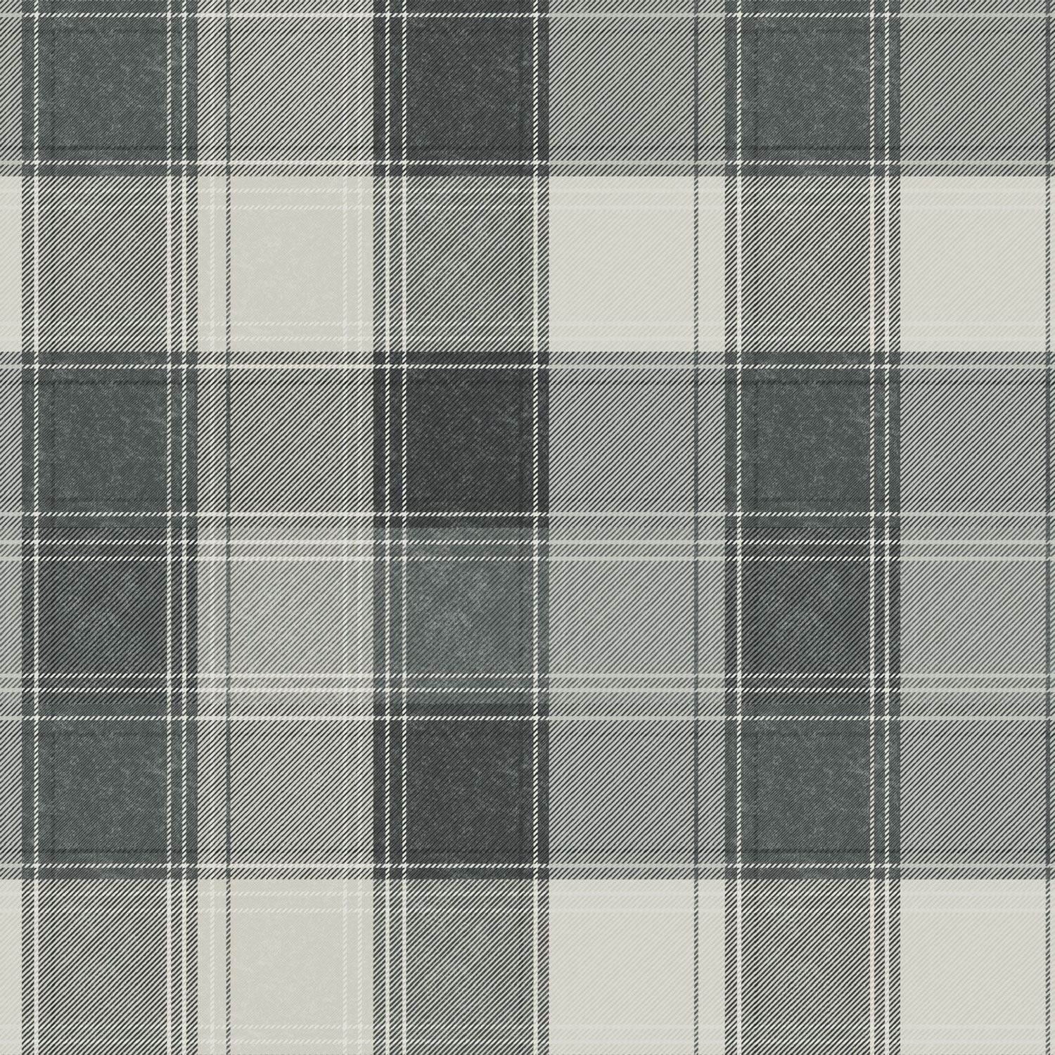 Details About Country Check Wallpaper Mono By Arthouse 906703 Fabric Effect Matte Finish