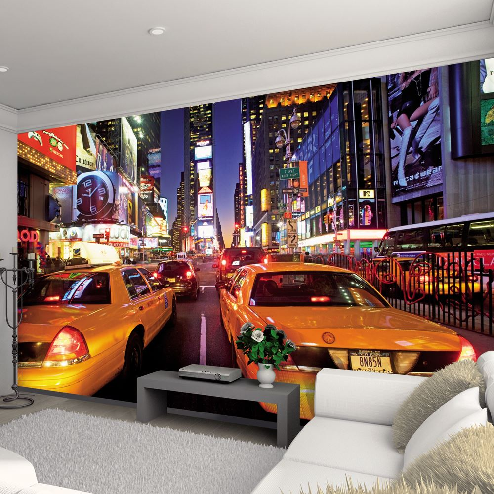 Creative collage 64 piece designer wall mural city scapes for Amazon mural wallpaper