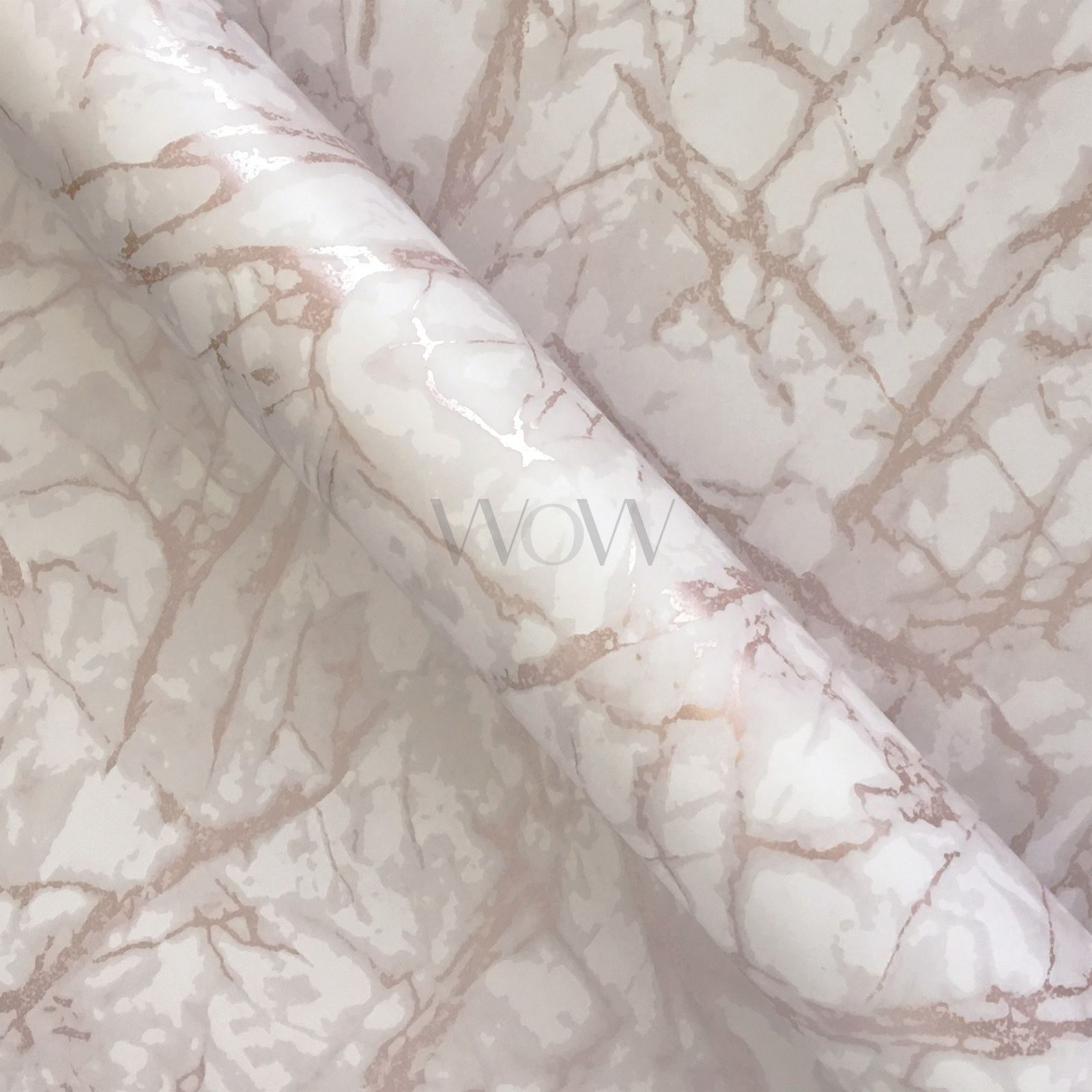 FINE-DECOR-METALLIC-GEOMETRIC-PLAIN-MARBLE-WALLPAPER-ROSE-GOLD-COPPER-SILVER thumbnail 19