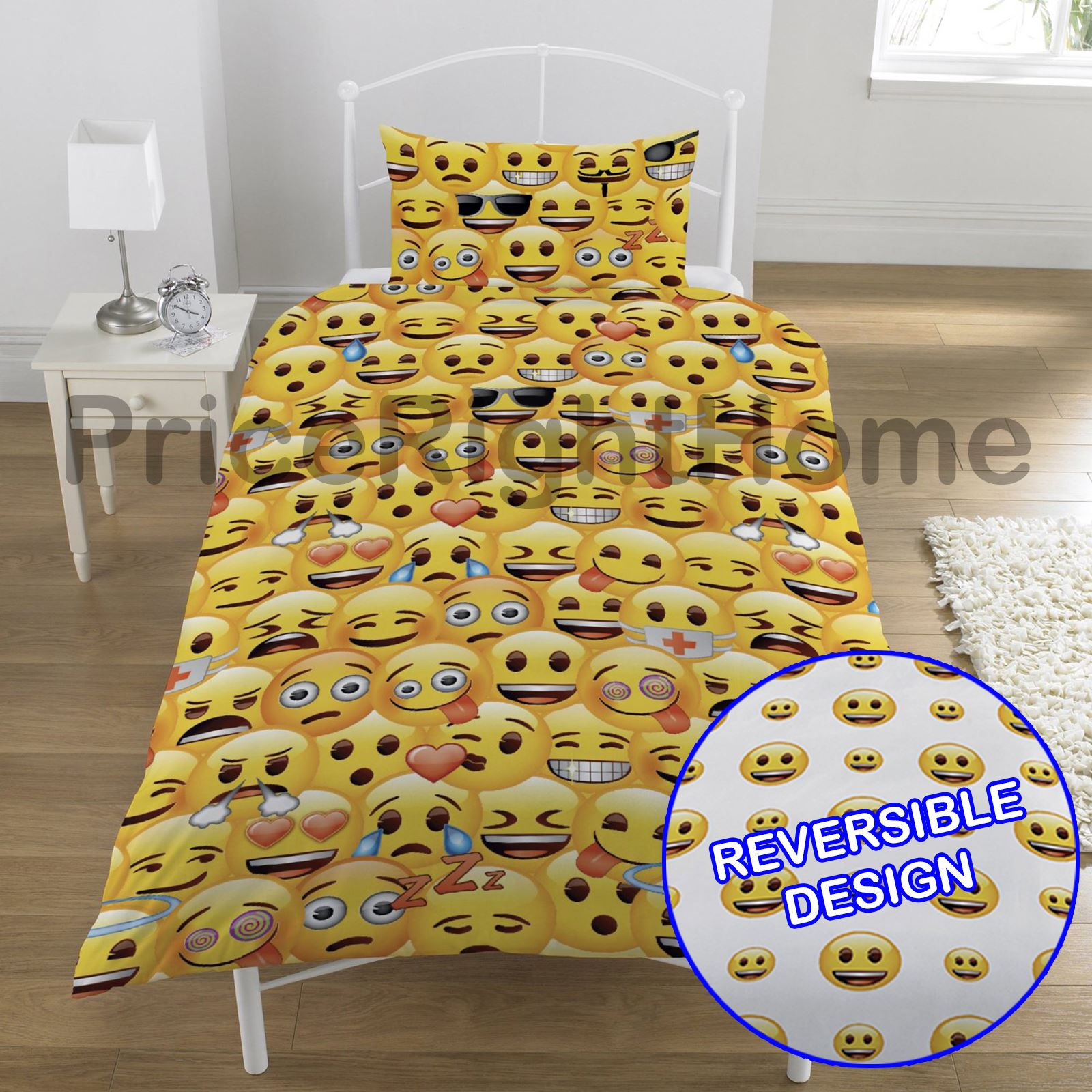 emoji duvet cover sets single double funny smiley christmas bedding ebay. Black Bedroom Furniture Sets. Home Design Ideas