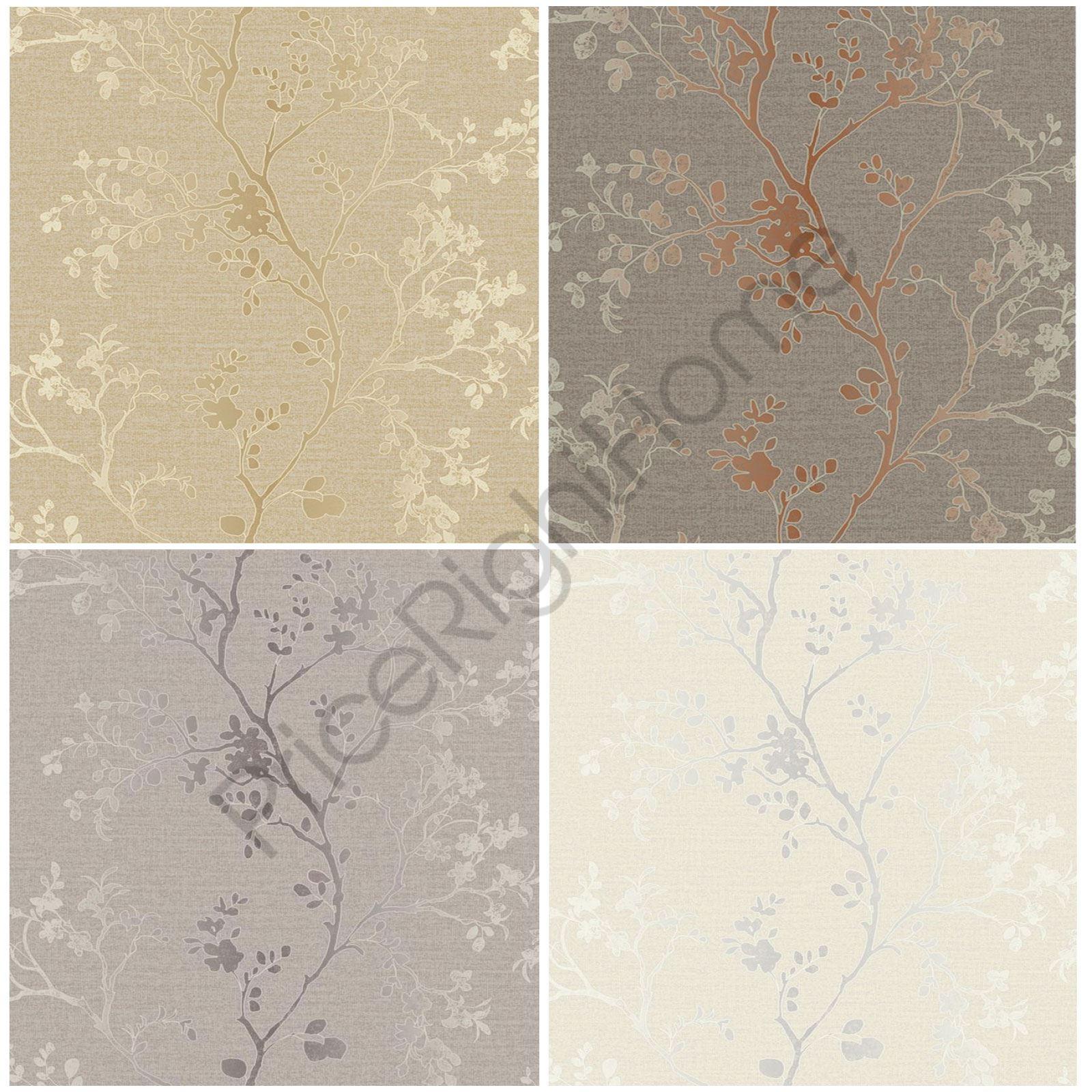 Rose Gold Copper: ARTHOUSE PRECIOUS METALS ORABELLA FLORAL WALLPAPER ROSE