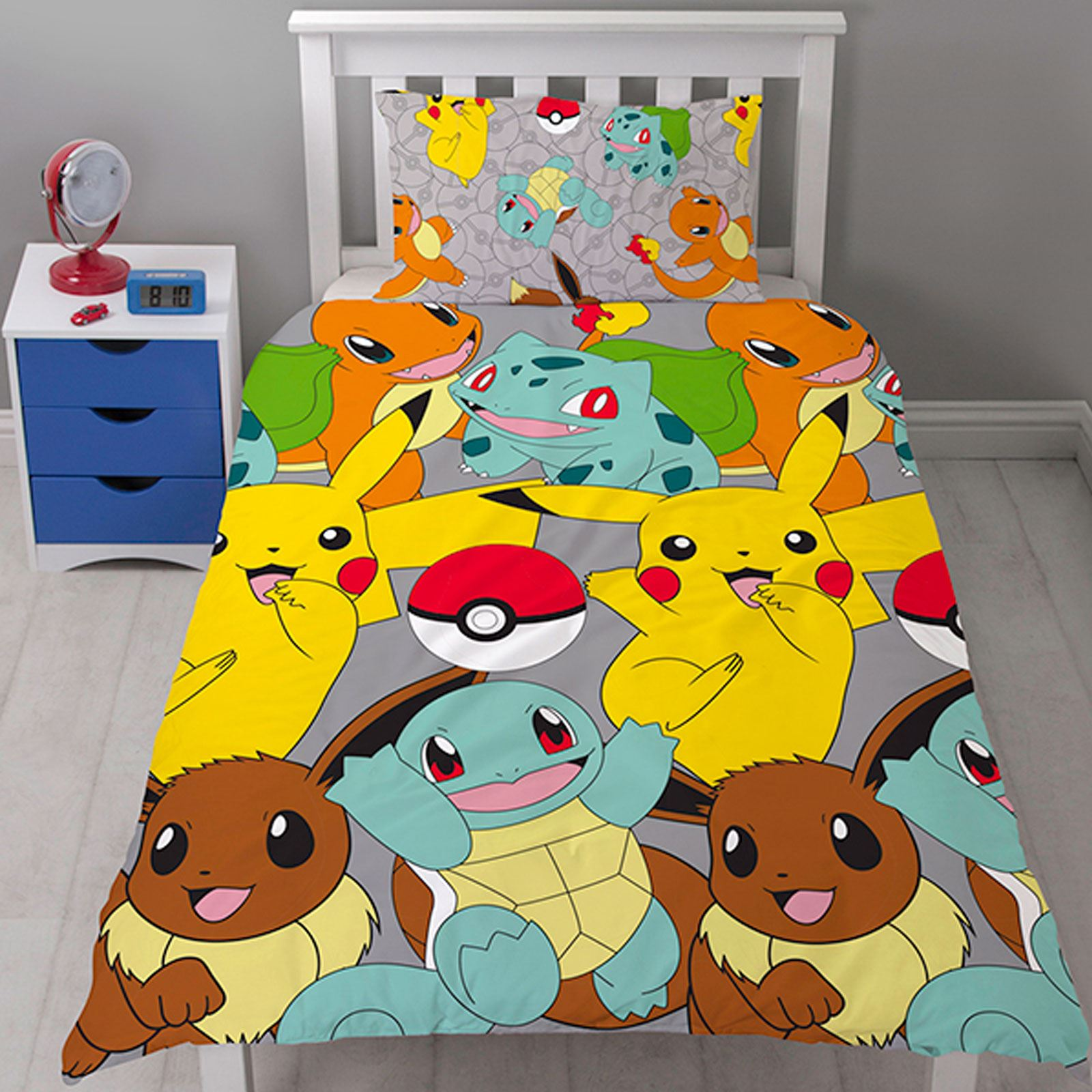 Pokemon Bedroom Pikachu Pokeball Single Duvet Cover Sets