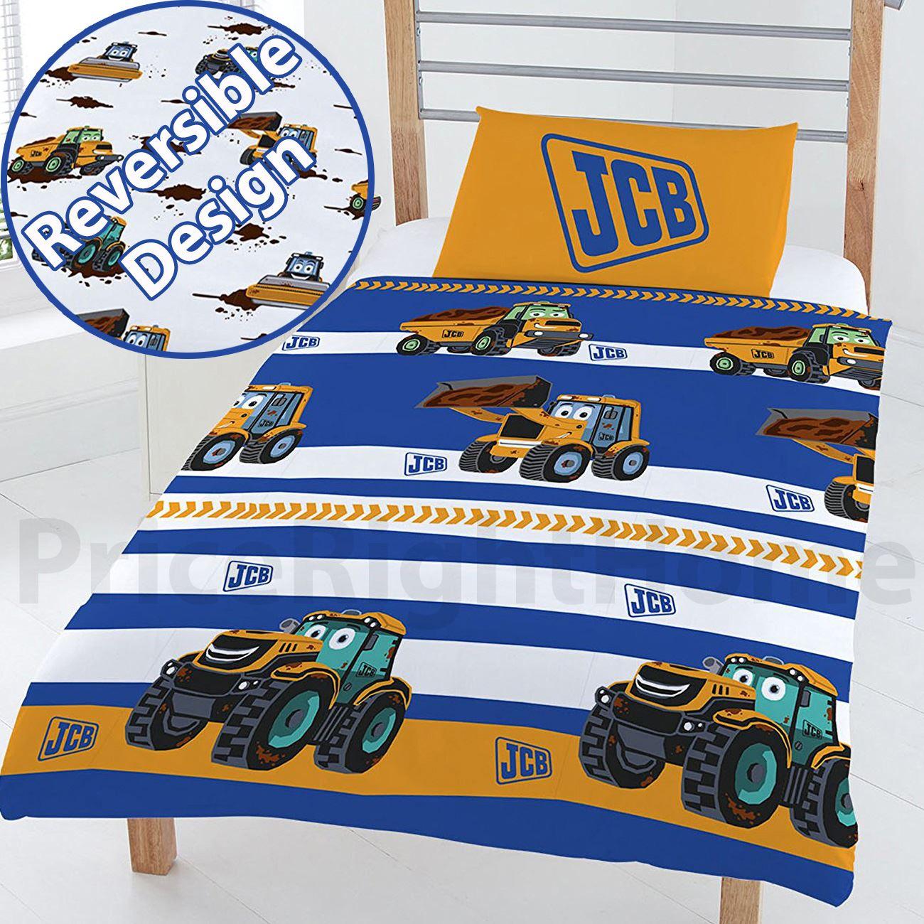 Jcb 4 in 1 ensemble de literie junior enfants couette r versible oreiller - Ensemble literie 160x200 ...