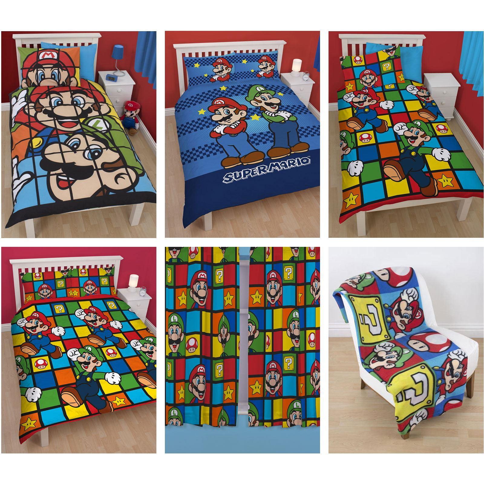 Official Nintendo Super Mario Brothers Bedding Duvet Cover