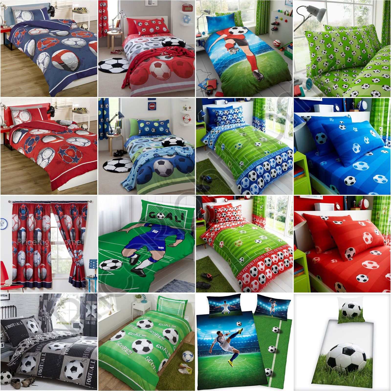 Football Bedroom Kids Boys  Single & Double Duvet Cover