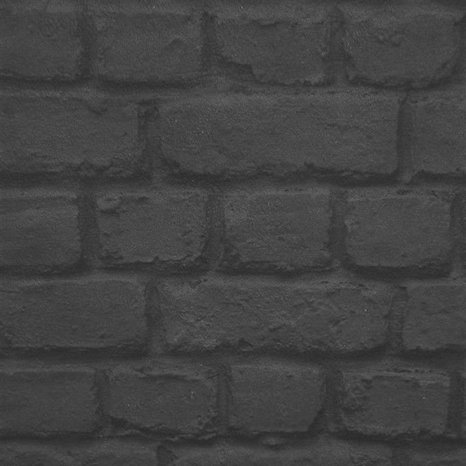Brick Stone Effect Wallpaper Rustic Moroccan Wall Grey