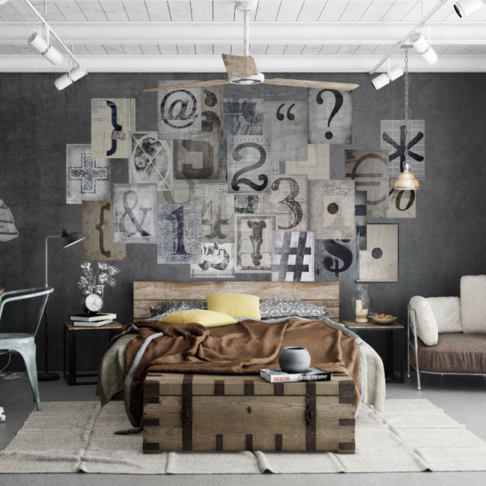 Creative collage designer 64 piece wall mural new york vintage creative collage designer 64 piece wall mural new york vintage map typography amipublicfo Gallery