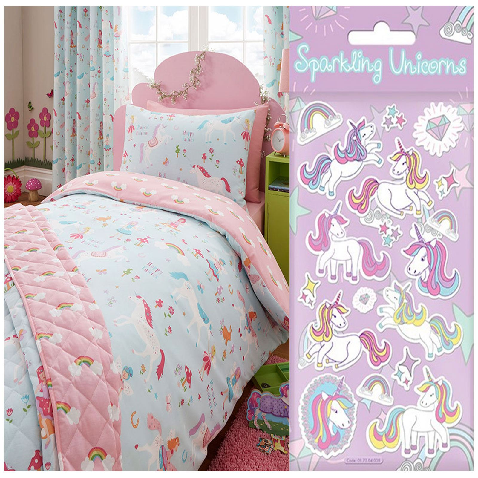 kids quilt adairs pin dreaming set ideas unicorn bed cover bedding