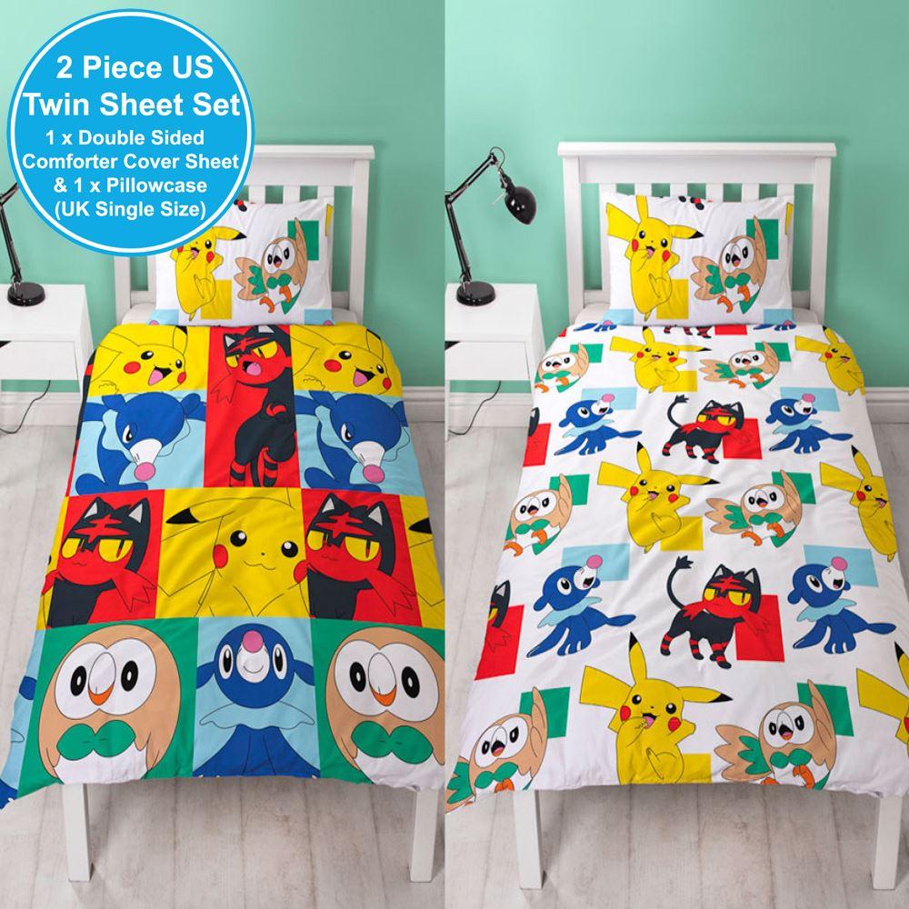 Official Pokemon Newbies Single Duvet Cover Set Pikachu
