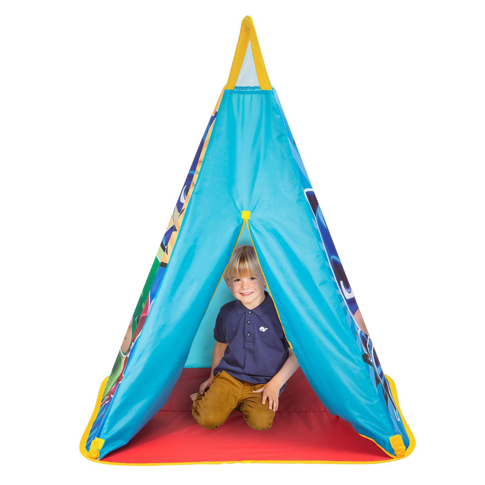 Spielzeug für draußen Pj Masken Zelt Spielzelt Innen Aussen Spaß Faltbar Blau Kinder