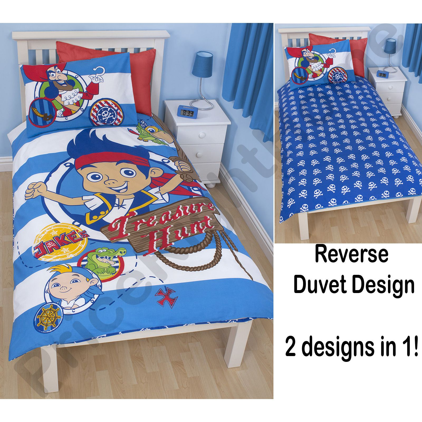 Jake the neverland pirates bedroom duvet covers for Jake quilted bedding