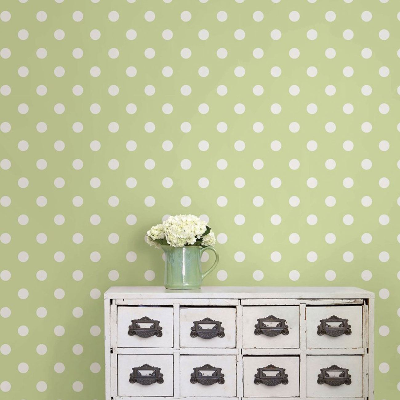 Beautiful Polka Dot Wall Decor Images - The Wall Art Decorations ...
