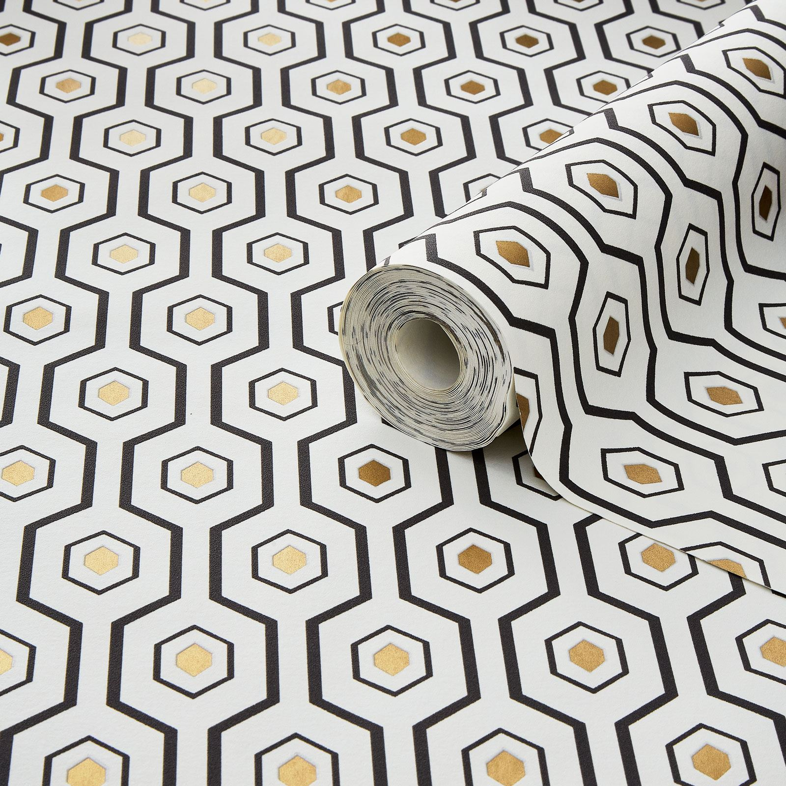GOLD GRANDECO A34201 METALLIC GOLD ELEMENTS ASHTON GEOMETRIC WALLPAPER TEAL
