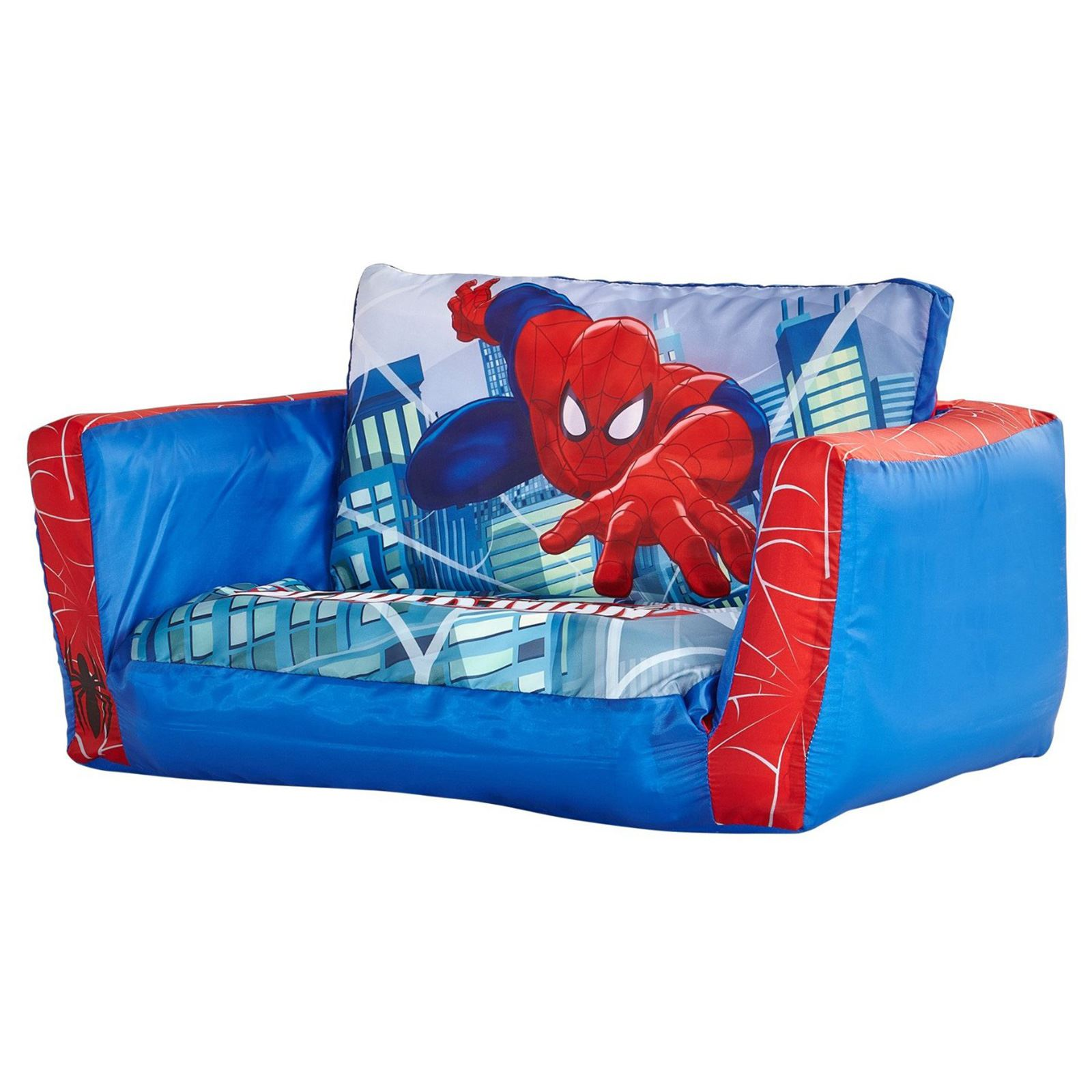 Official Spiderman Flip Out Sofa Childrens Lounger Bed New