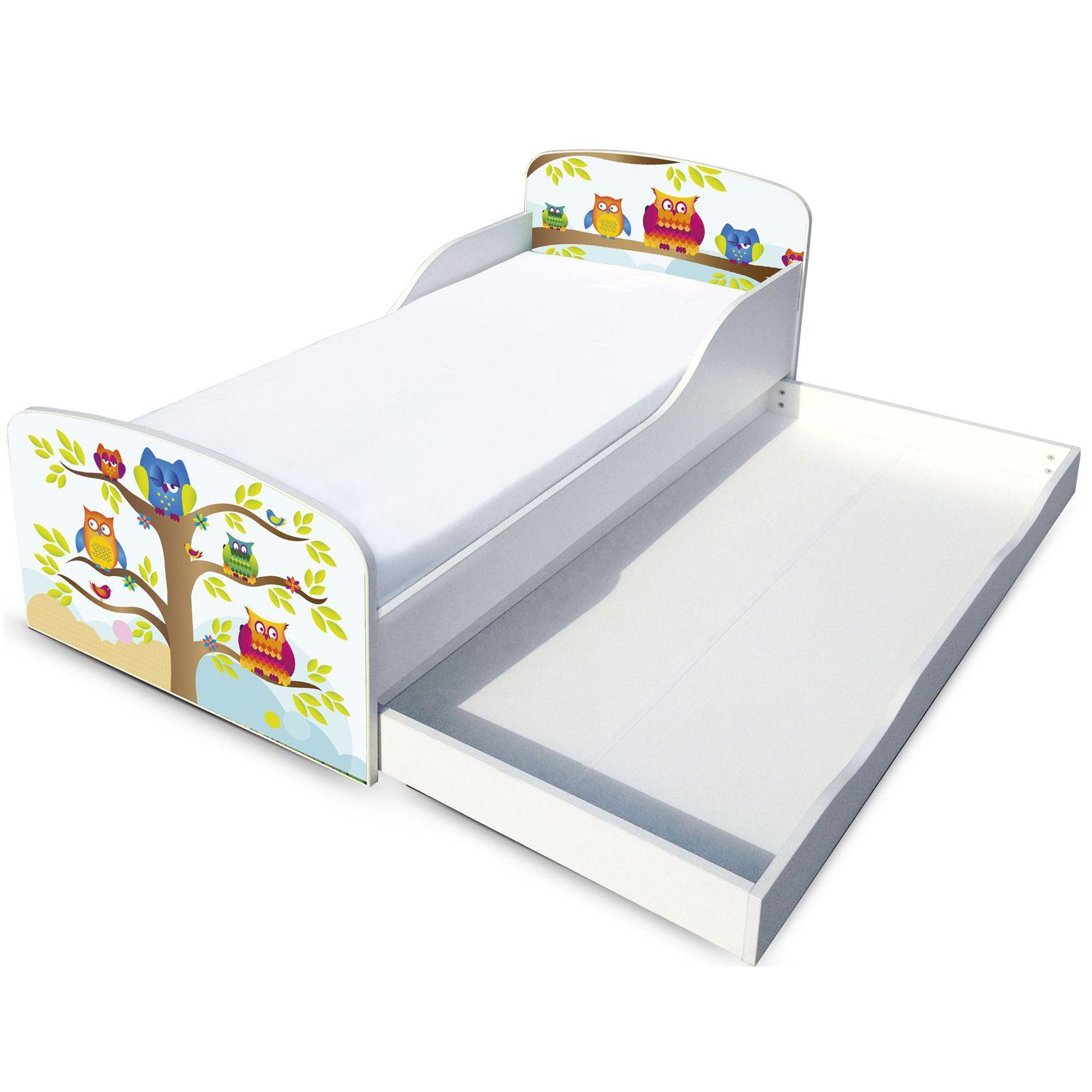 eulen mdf kleinkind bett mit unterbett aufbewahrung neu m bel ebay. Black Bedroom Furniture Sets. Home Design Ideas