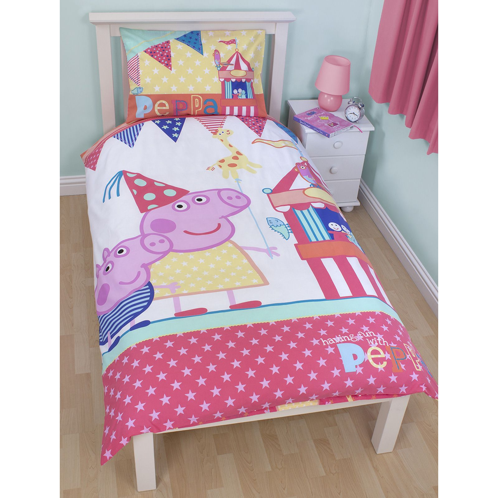 peppa pig bedroom peppa pig and george bedding single amp junior 12817