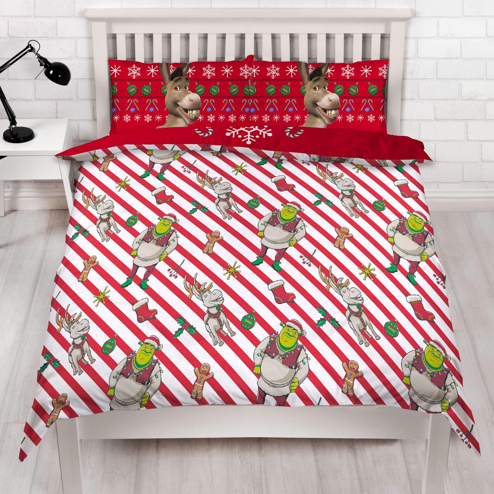 Indexbild 46 - Kinder Weihnachten Bettbezug Sets - Junior Einzel Doppel King - Elf Emoji Grinch