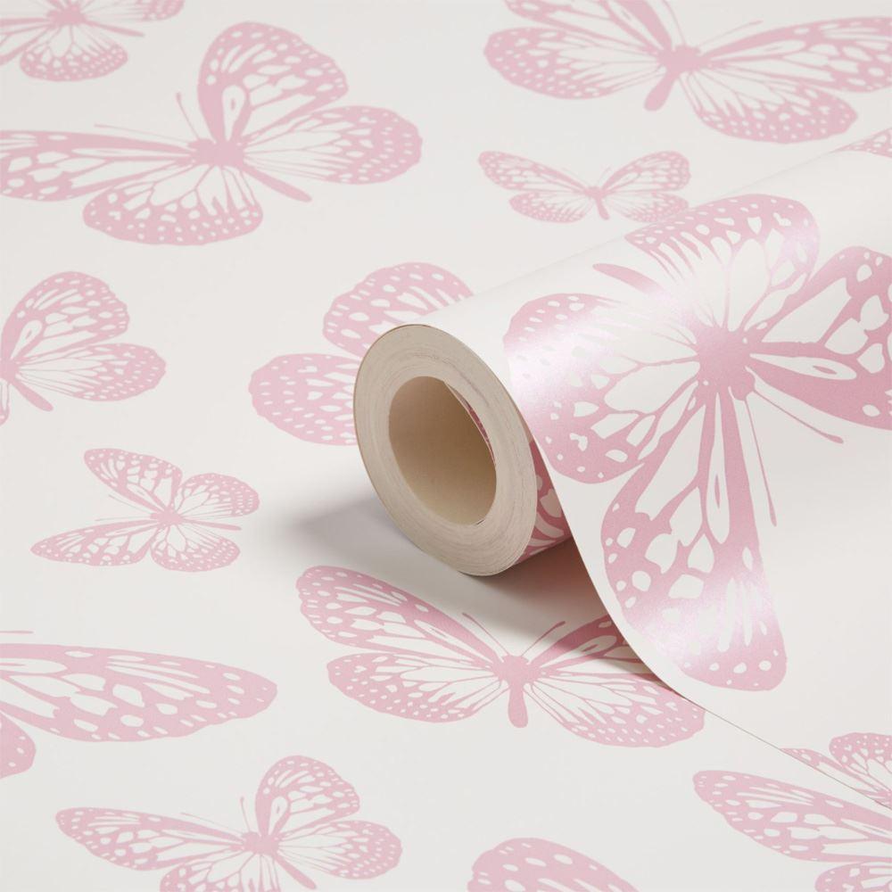 Butterfly Wallpaper White Pink Fd40275 New Butterflies Fine