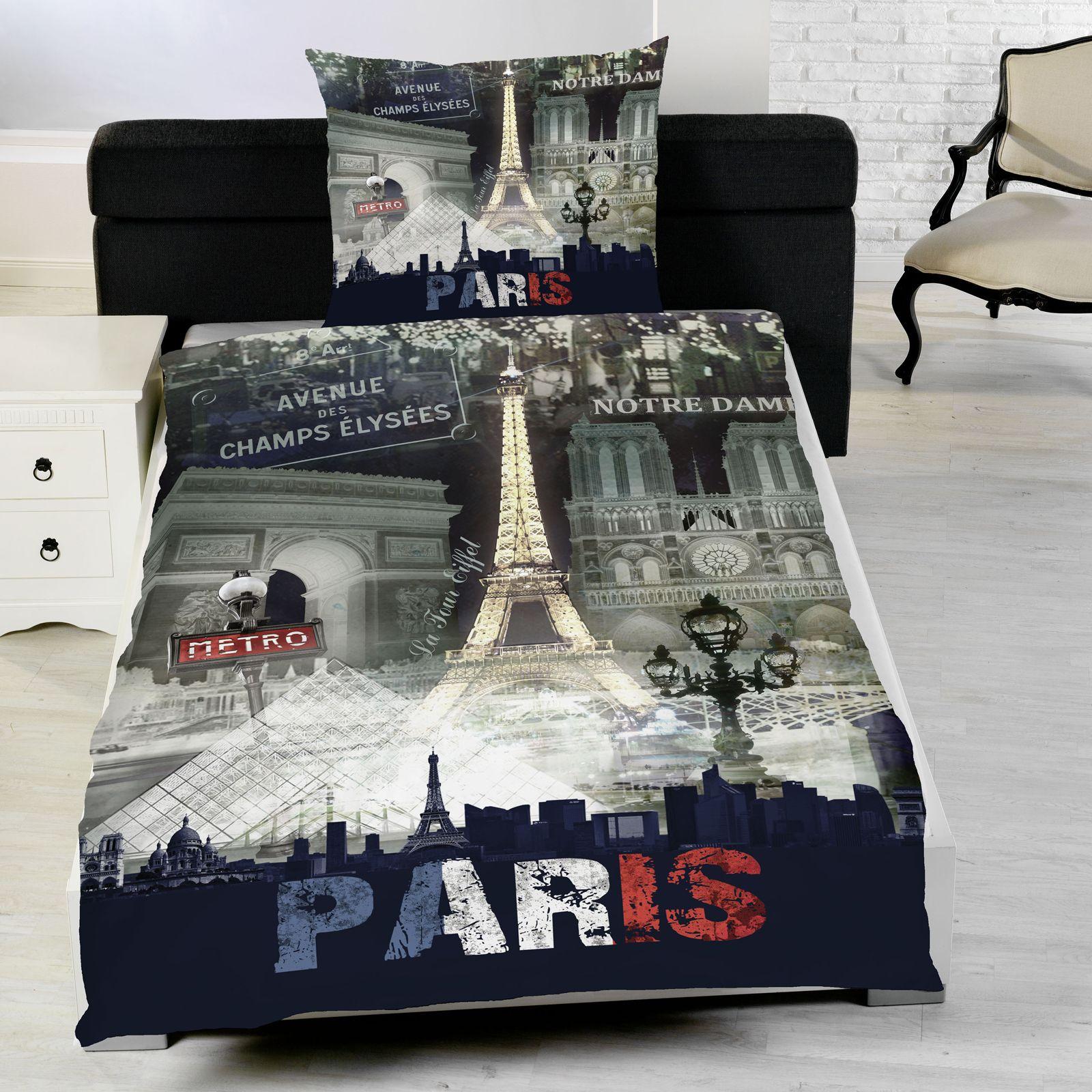 PARIS FRENCH DUVET COVER SET LANDMARKS EIFFEL TOWER   SINGLE