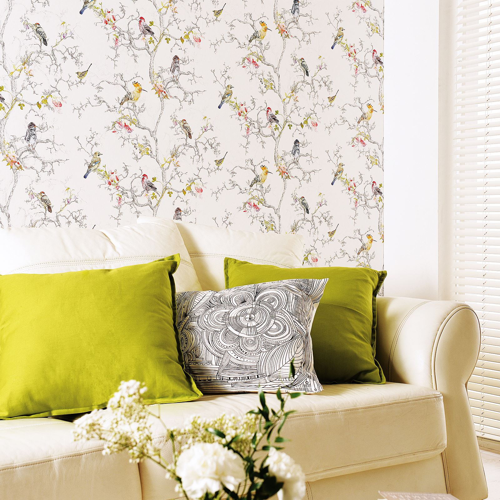BEAUTIFUL BIRDS THEMED WALLPAPERS IN VARIOUS DESIGNS FEATURE WALL ...