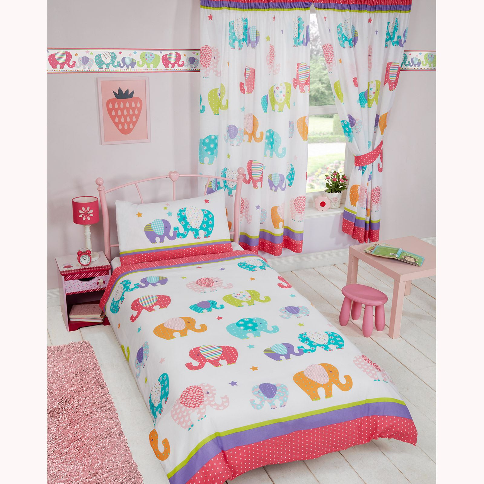 GIRLS SINGLE DUVET COVER SETS UNICORNS BUTTERFLIES PRINCESS