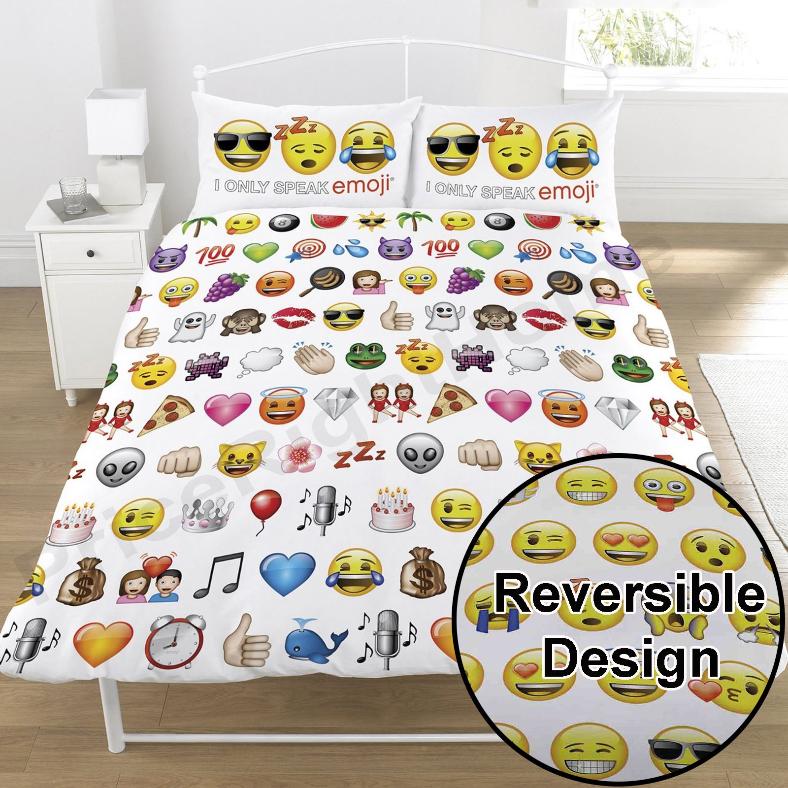 Emoji Duvet Cover Sets Single Double Funny Smiley Christmas  # Muebles Doble Rr