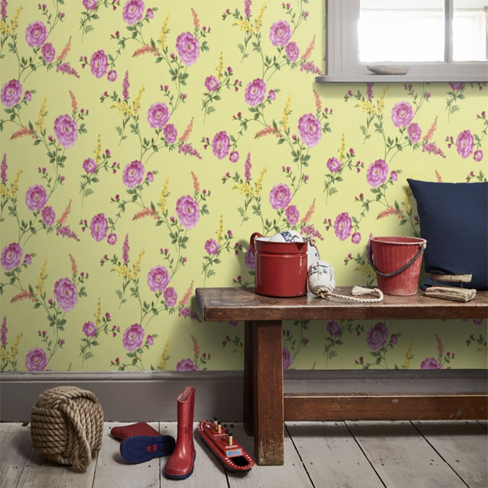 FLORAL WALLPAPER - VARIOUS DESIGNS AND COLOURS - FLOWERS ROSES BIRDS ...