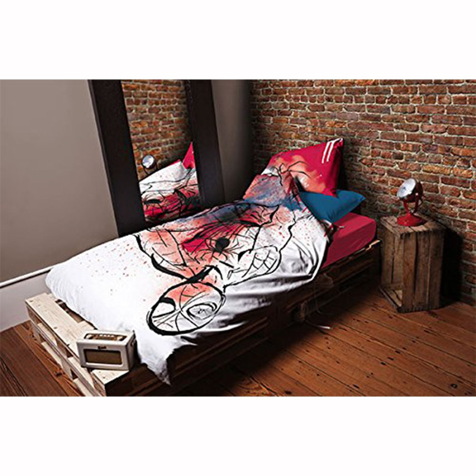 Spiderman underground set housse de couette simple for Housse couette spiderman