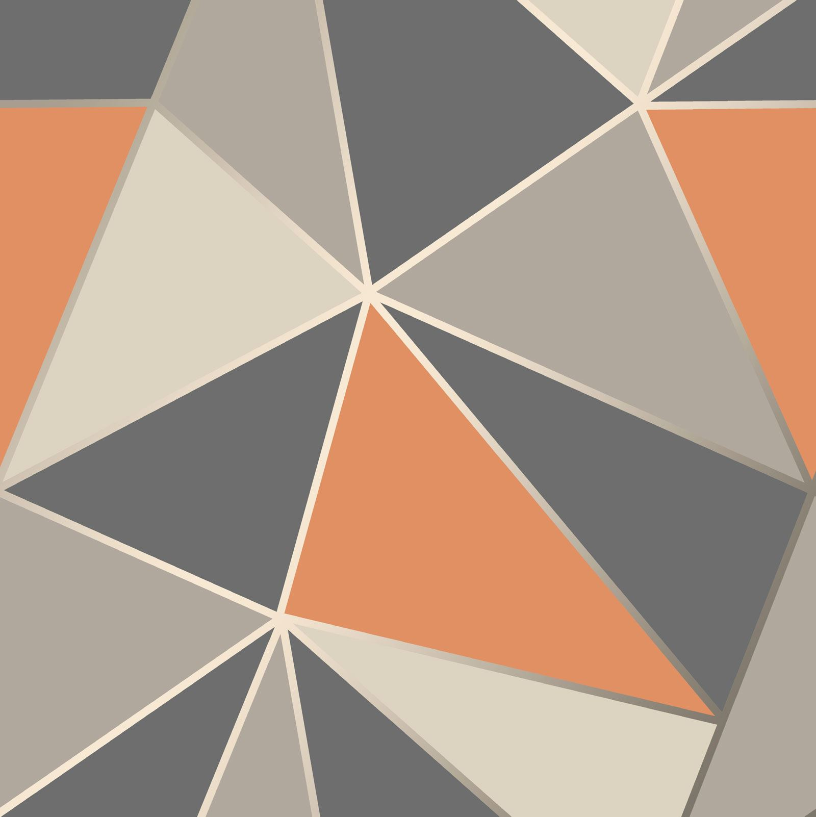 Fine Decor Apex Geometric Wallpaper Metallic Rose Gold Black Blue