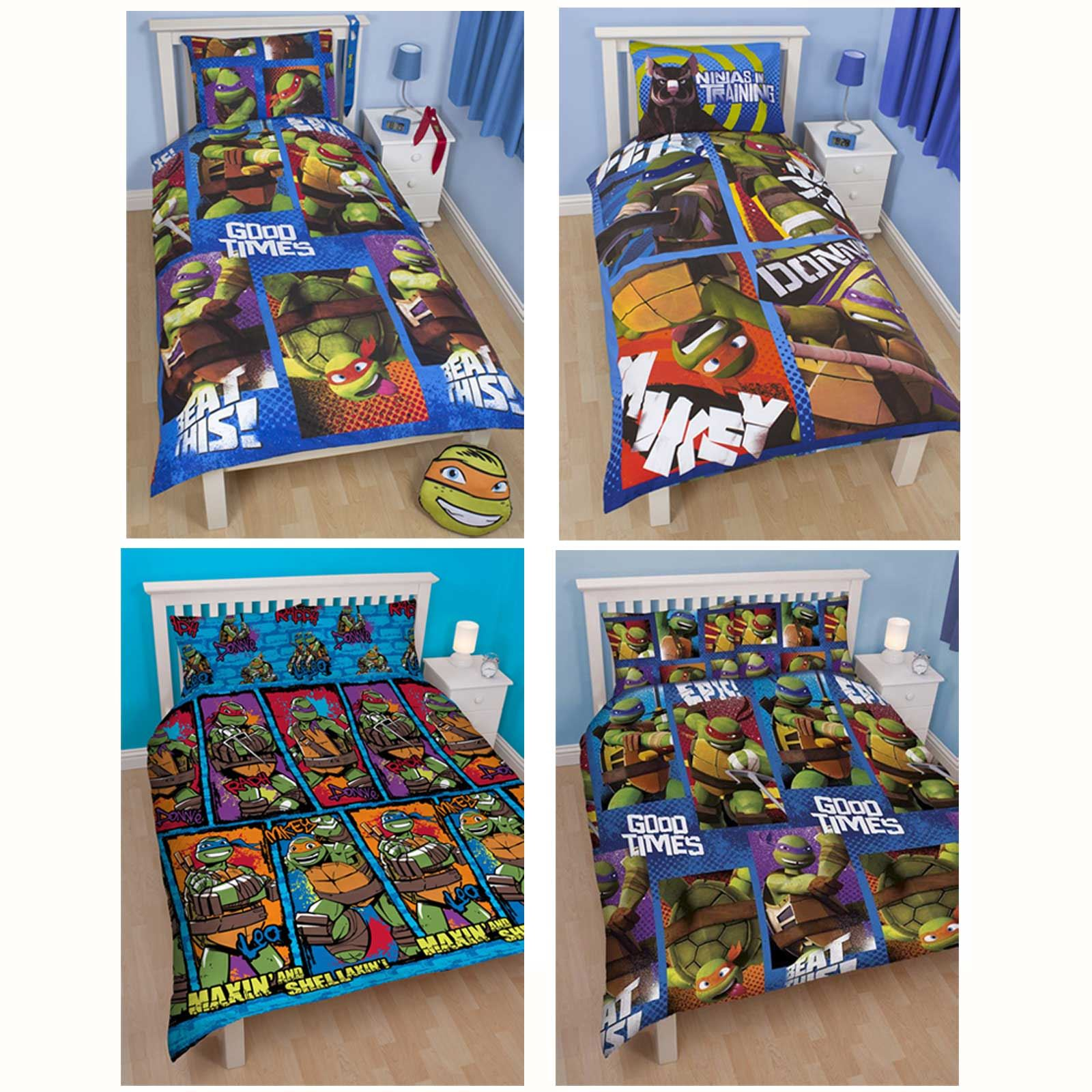 Teenage Mutant Ninja Turtles Dudes Reversible Duvet