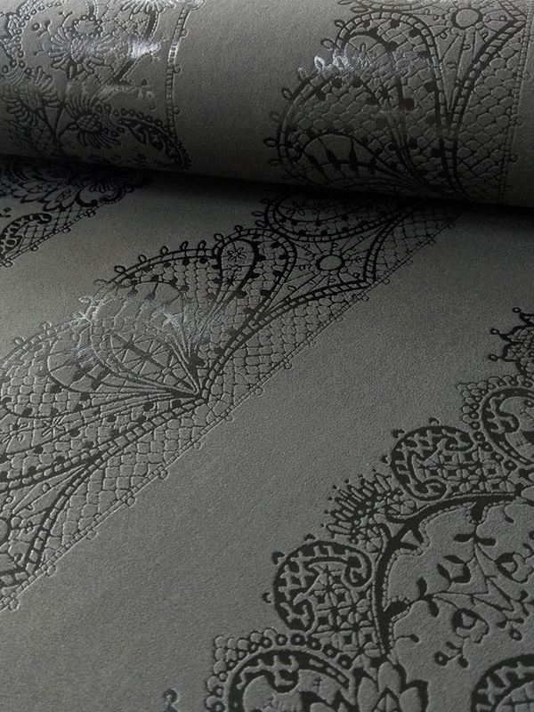 Tablecloths For 8ft Tables NEW CATHERINE LANSFIELD LACE EFFECT BLACK WALLPAPER 13379-44 ROOM ...
