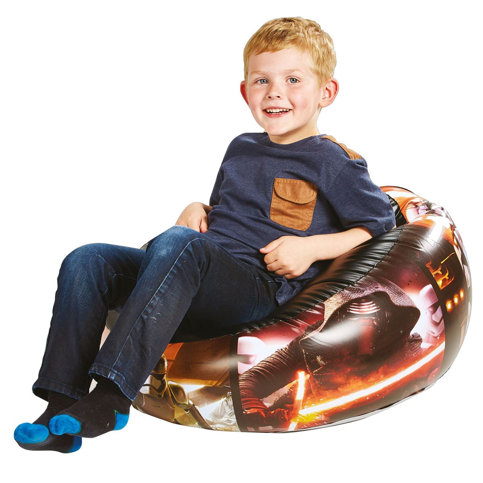 STAR WARS JUNIOR INFLATABLE CHAIR FORTABLE KIDS BOYS CHILDRENS