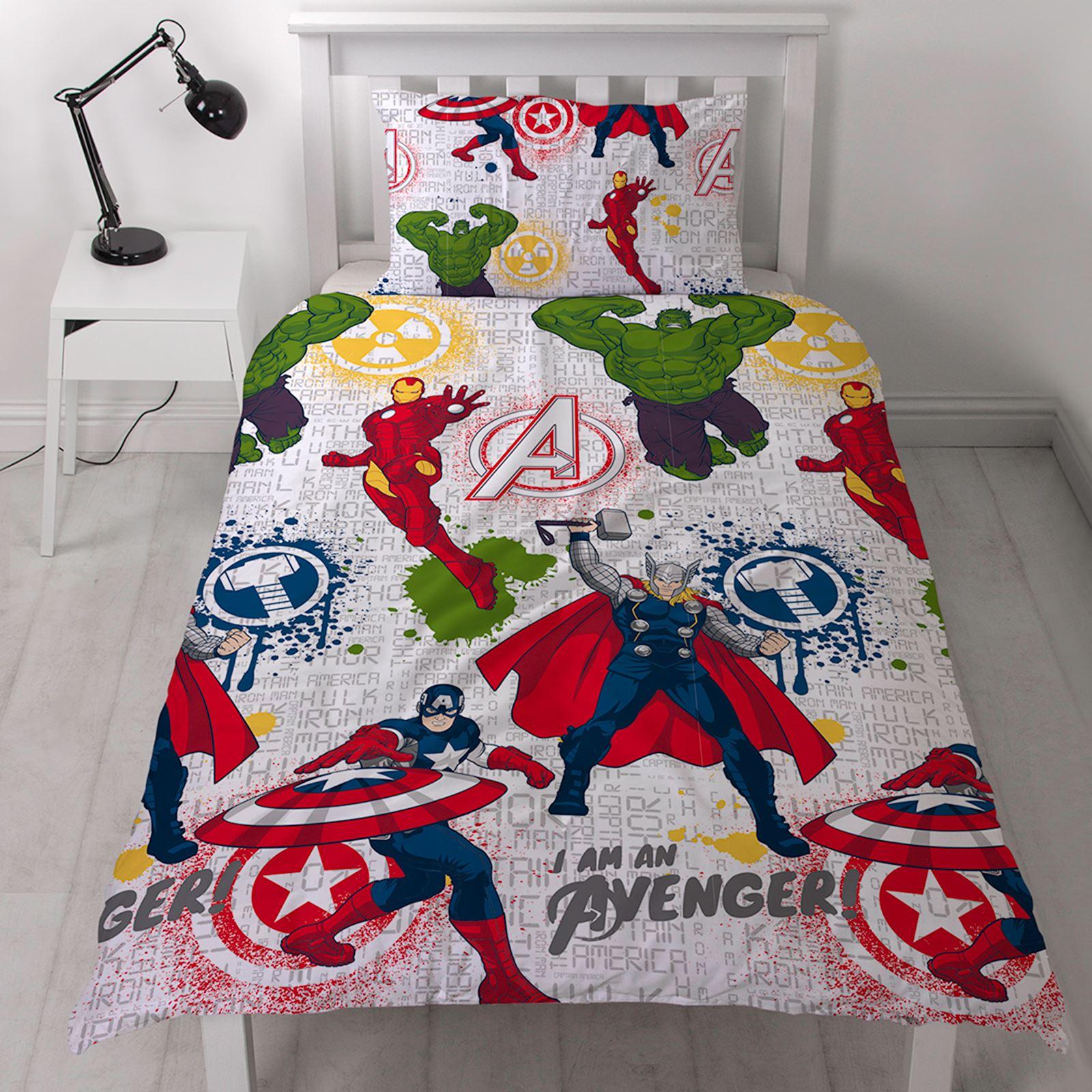 Marvel Avengers Mission Housse De Couette Ensembles Parure De Lit