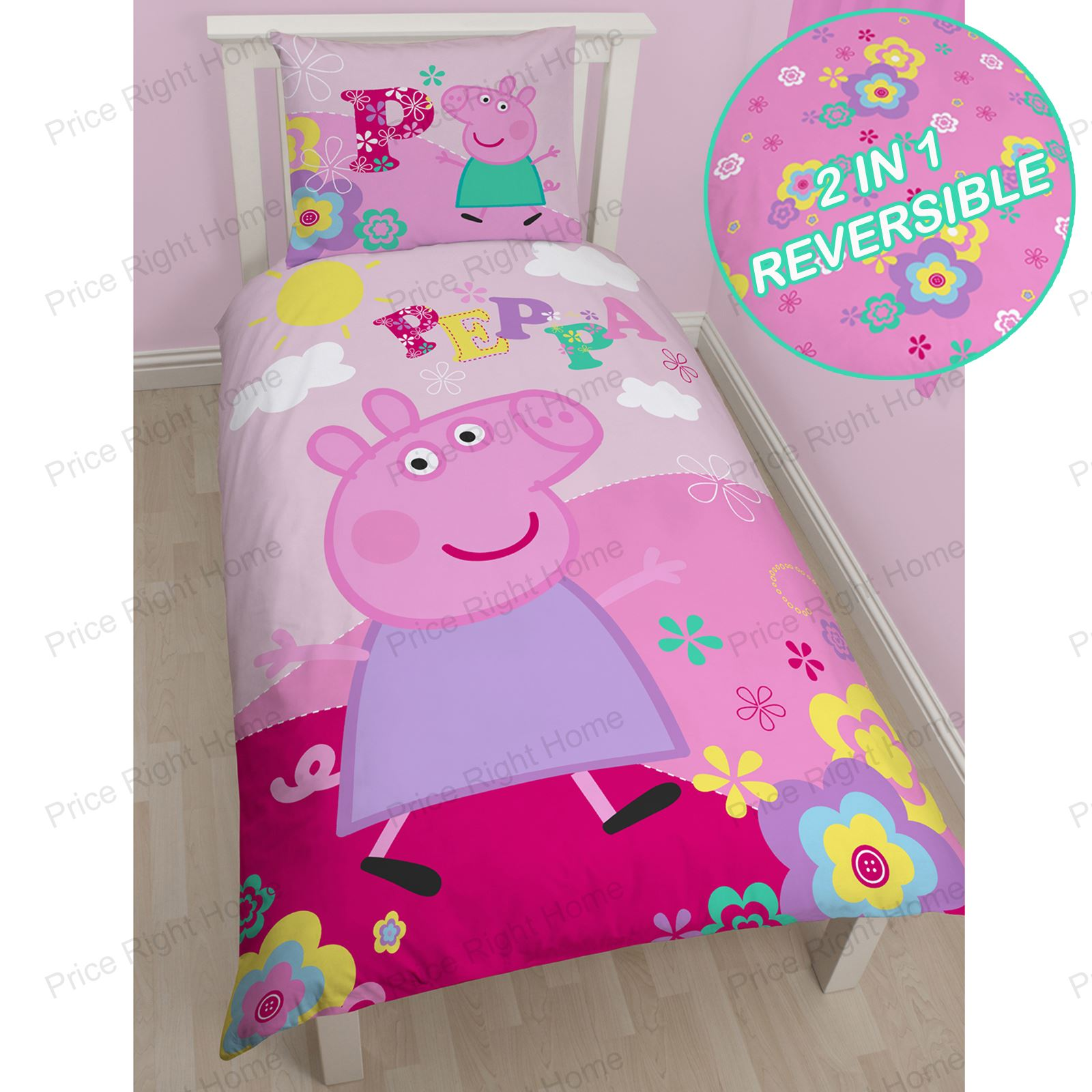 Peppa Pig Bedroom 100 Cotton Disney And Character Single Duvet Cover Sets Kids