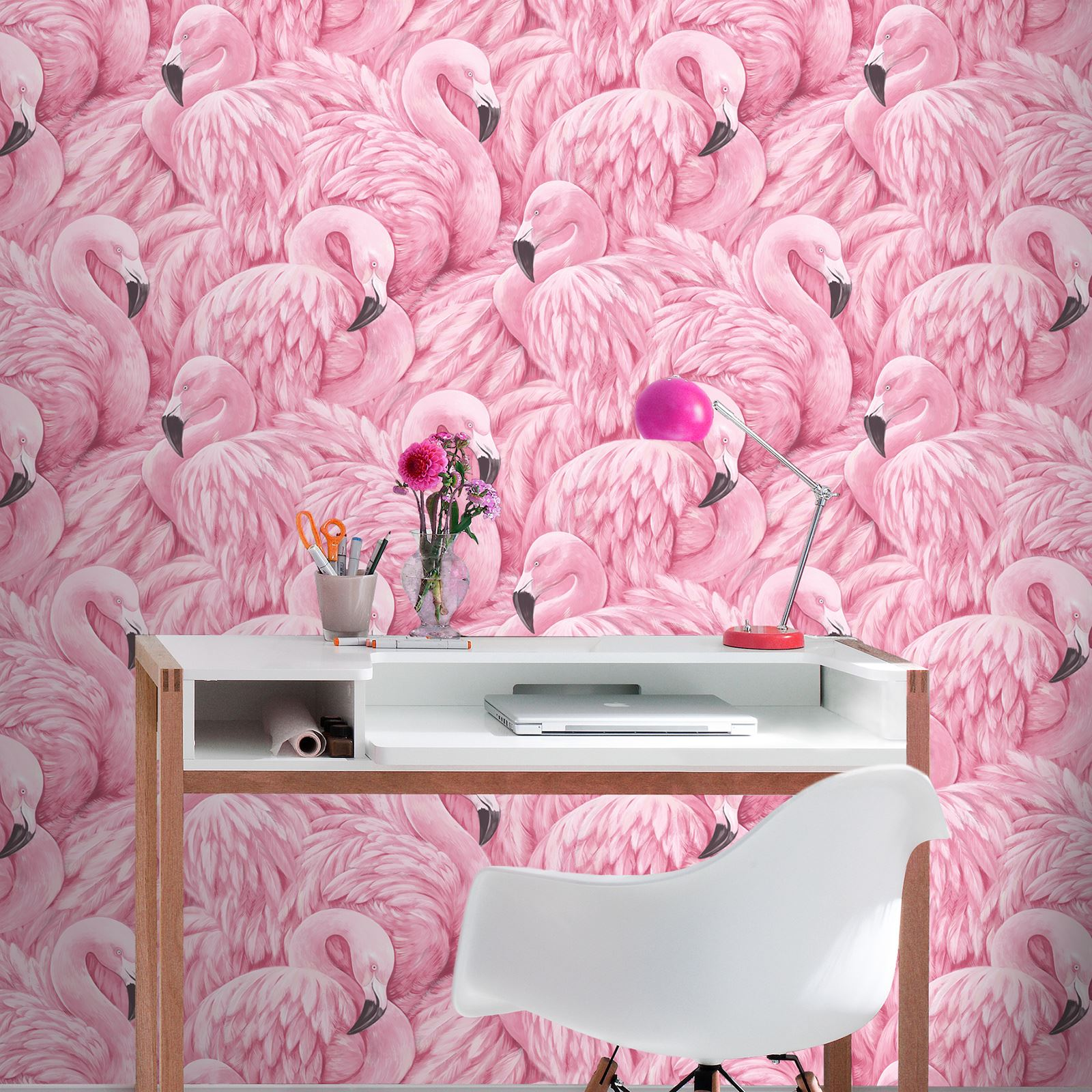 flamingo wallpaper arthouse vintage lagoon holden lake. Black Bedroom Furniture Sets. Home Design Ideas