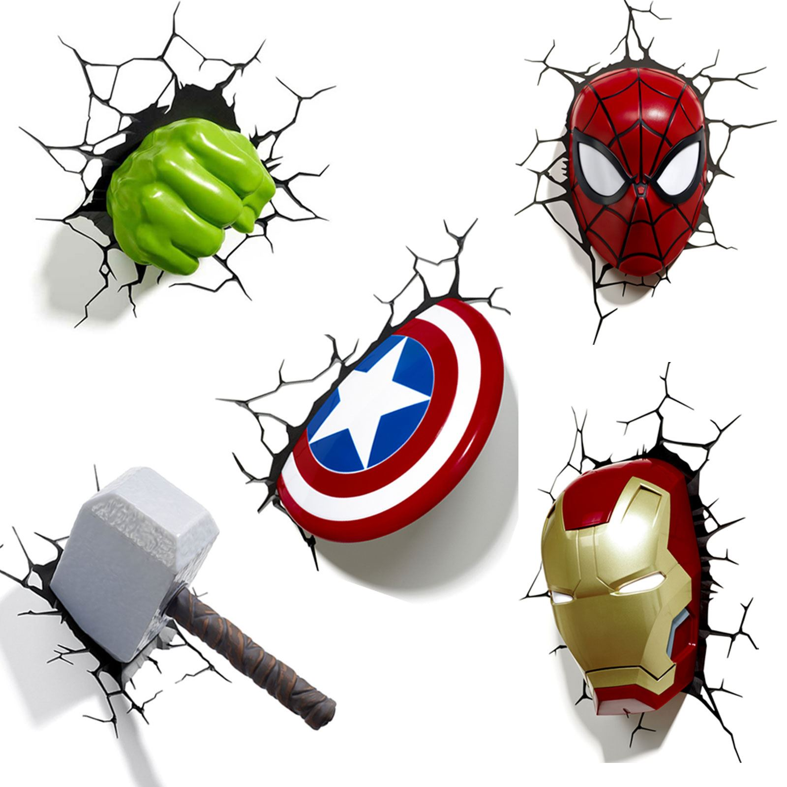 Marvel avengers 3d wall light hulk iron man captain america marvel avengers 3d wall light hulk iron man captain america thor spiderman aloadofball Images