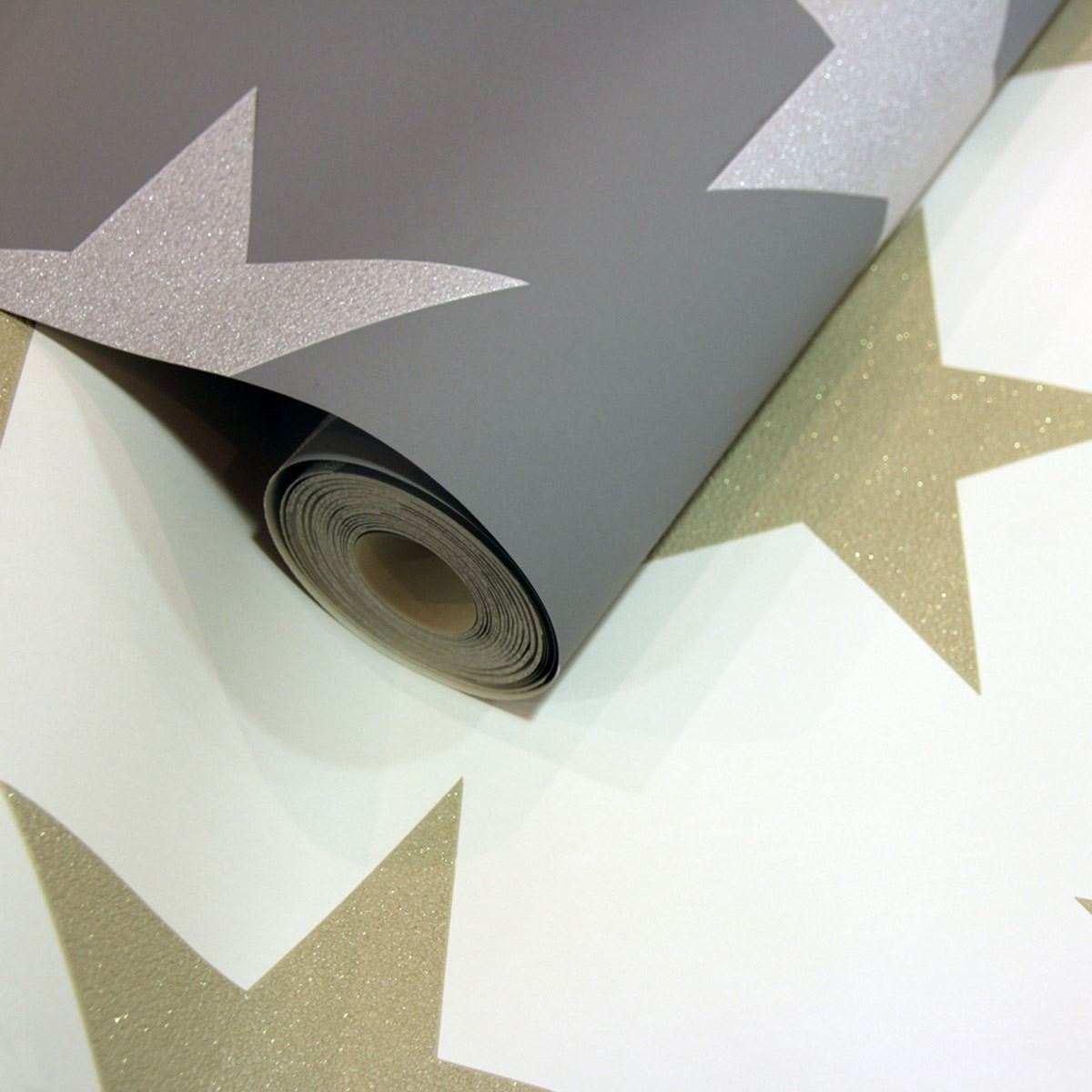 Sternennacht tapete silber grau 891301 arthouse for Tapete sterne grau