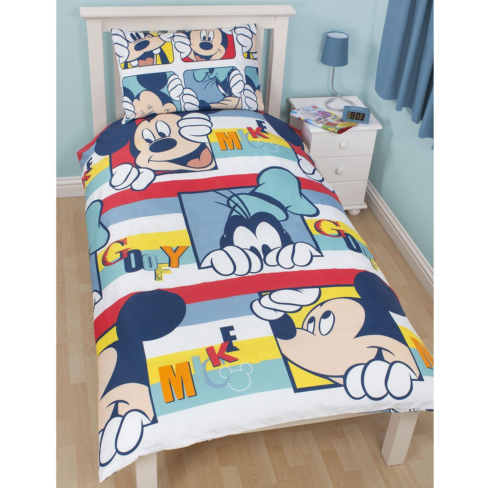 Mickey Mouse Bedroom Disney Mickey Or Minnie Mouse Single Duvet Cover Sets Kids Bedroom