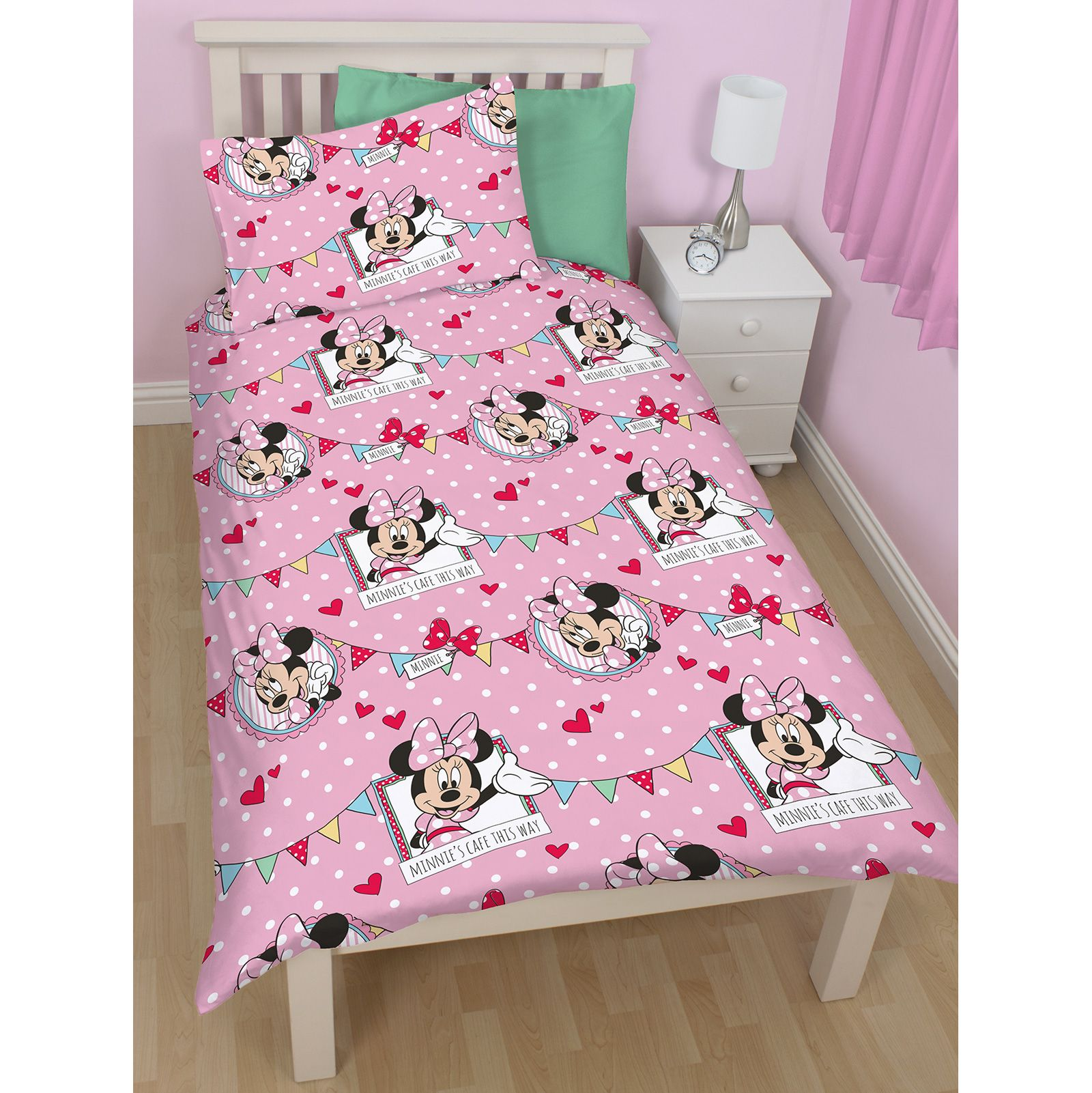 MINNIE-MOUSE-DUVET-COVERS-KIDS-GIRLS-BEDDING-SINGLE-DOUBLE-JUNIOR thumbnail 7