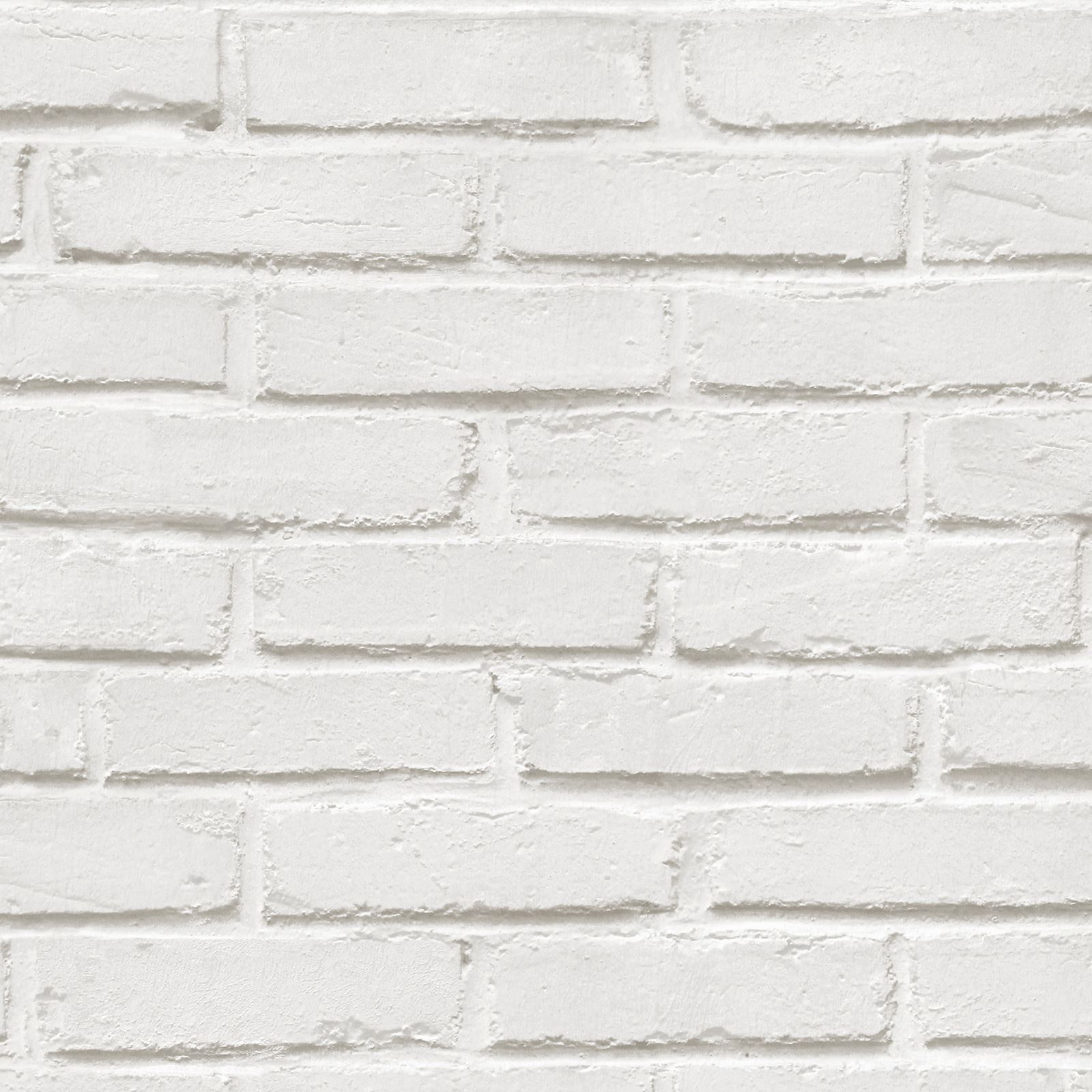 Rustic Brick Wall Wallpaper White 575319 Ugepa