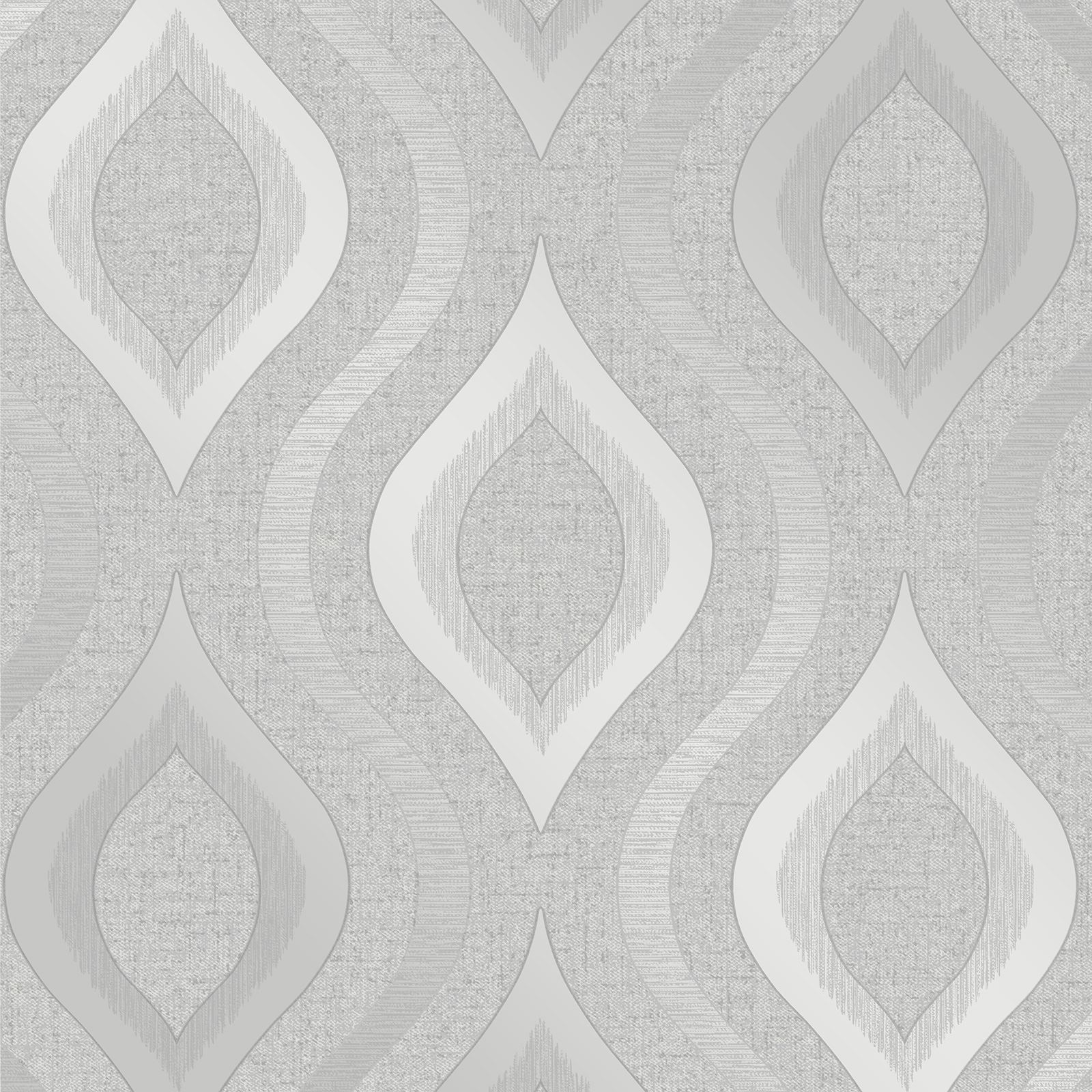 FINE DECOR QUARTZ SILVER GREY WALLPAPER PLAIN STRIPE
