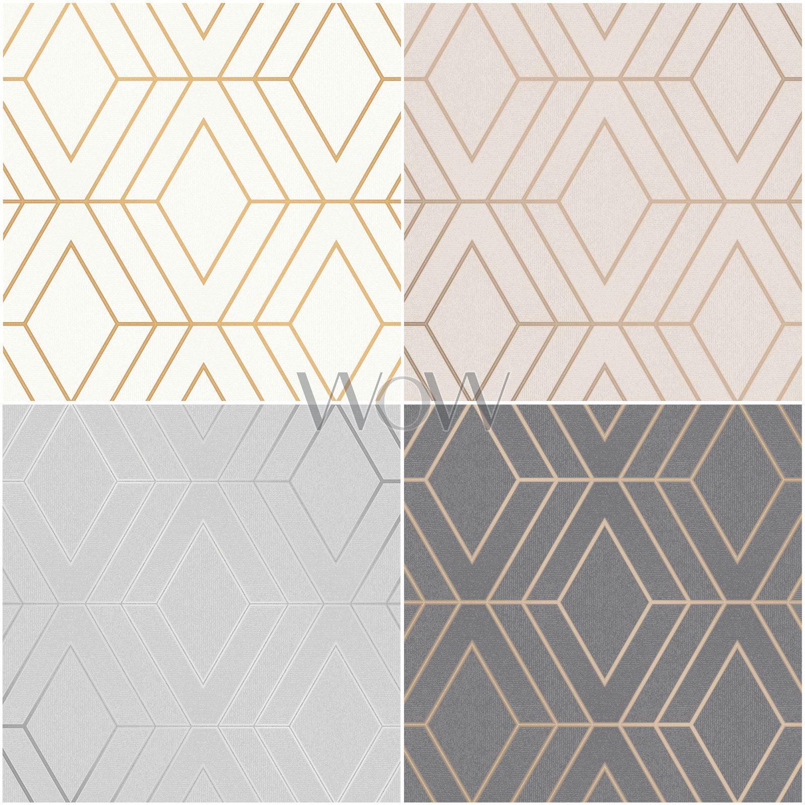 Charcoal Pulse Diamond Wallpaper Geometric Textured Glitter Metallic Fine Decor
