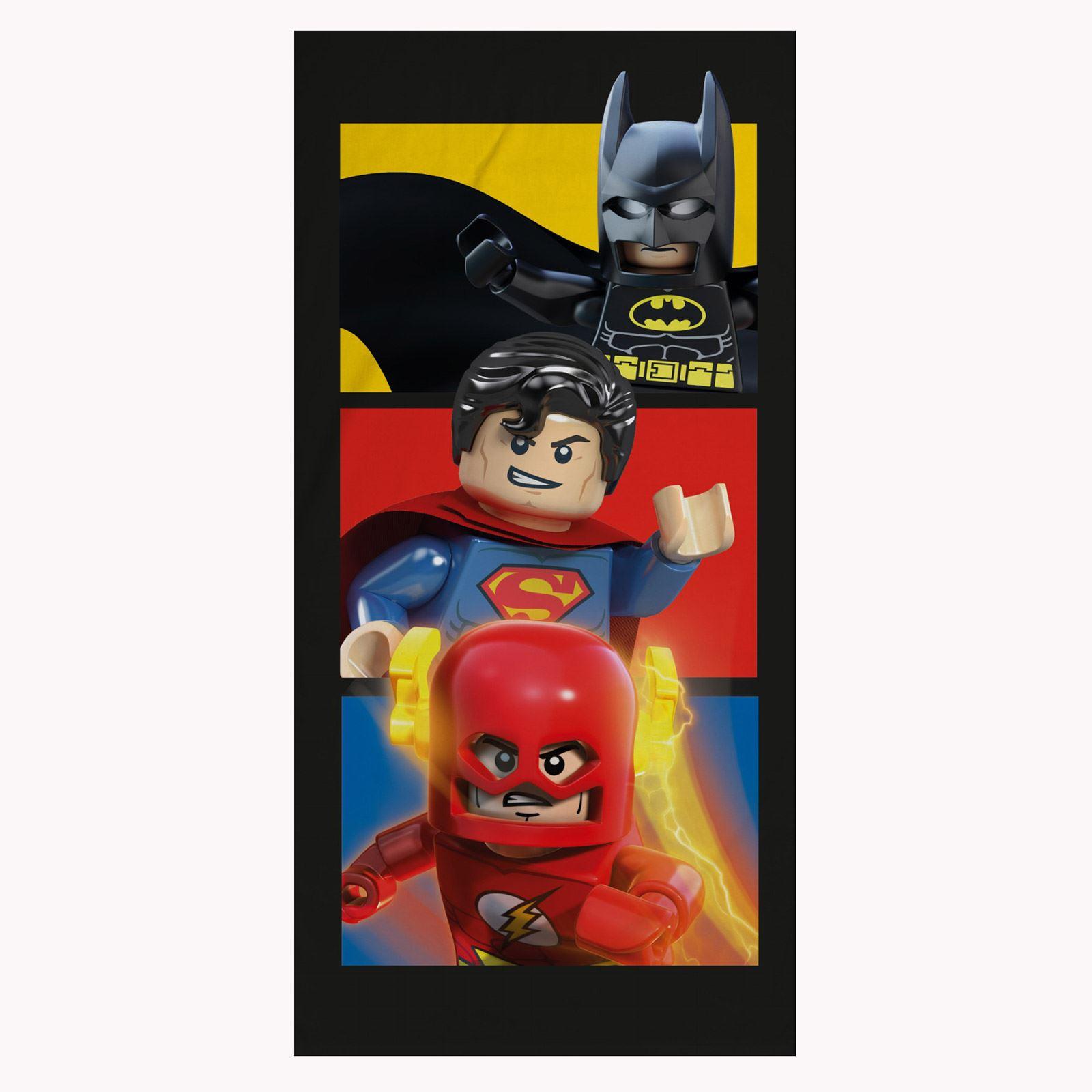 Beach Bedroom Furniture Bedroom Remodel Batman Bedroom Wallpaper Scandinavian Bedroom Curtains: LEGO DC COMICS LARGE TOWEL BATMAN SUPERMAN FLASH